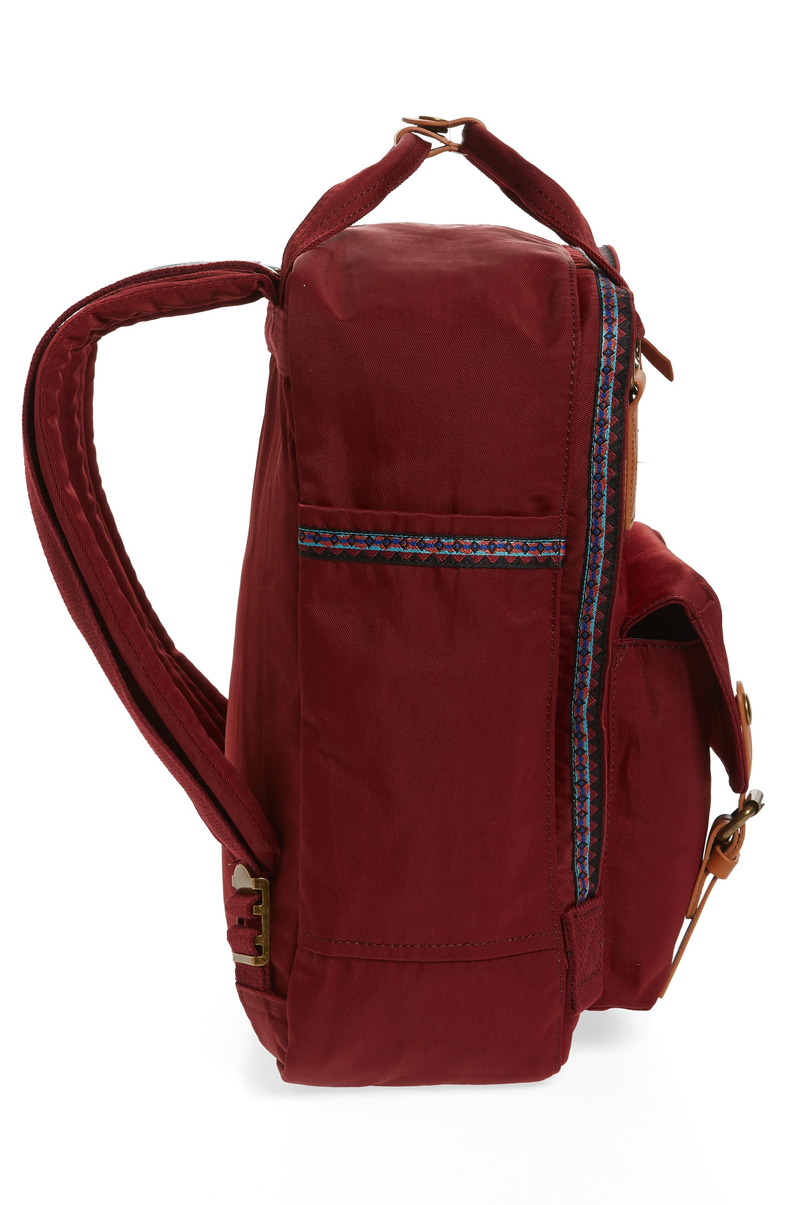 Macaroon Bo-He Water Resistant Backpack,                             Alternate thumbnail 5, color,                             Wine