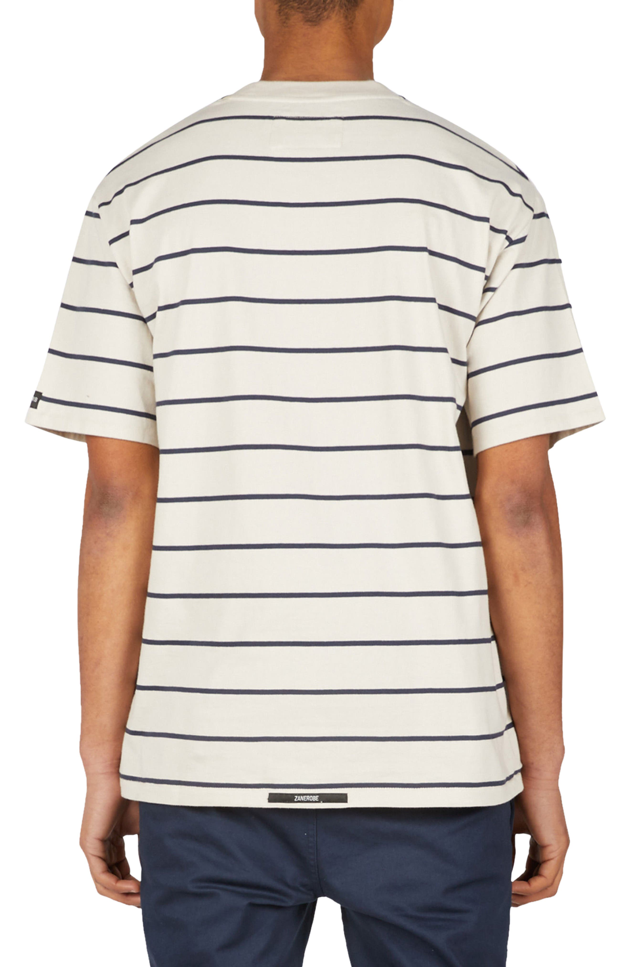 Stripe Box T-Shirt,                             Alternate thumbnail 2, color,                             Natural/ Duke Blue