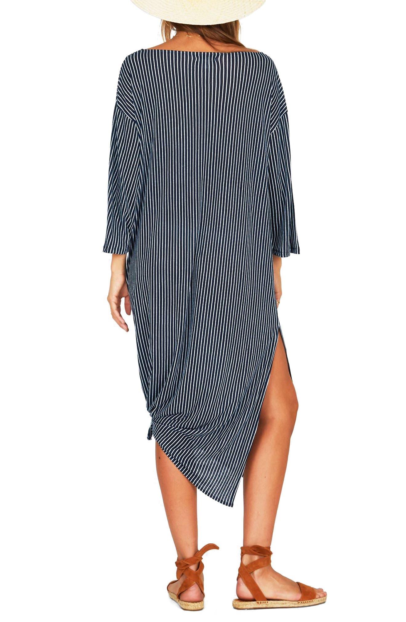 Morning Fog Midi Dress,                             Alternate thumbnail 3, color,                             Dark Navy