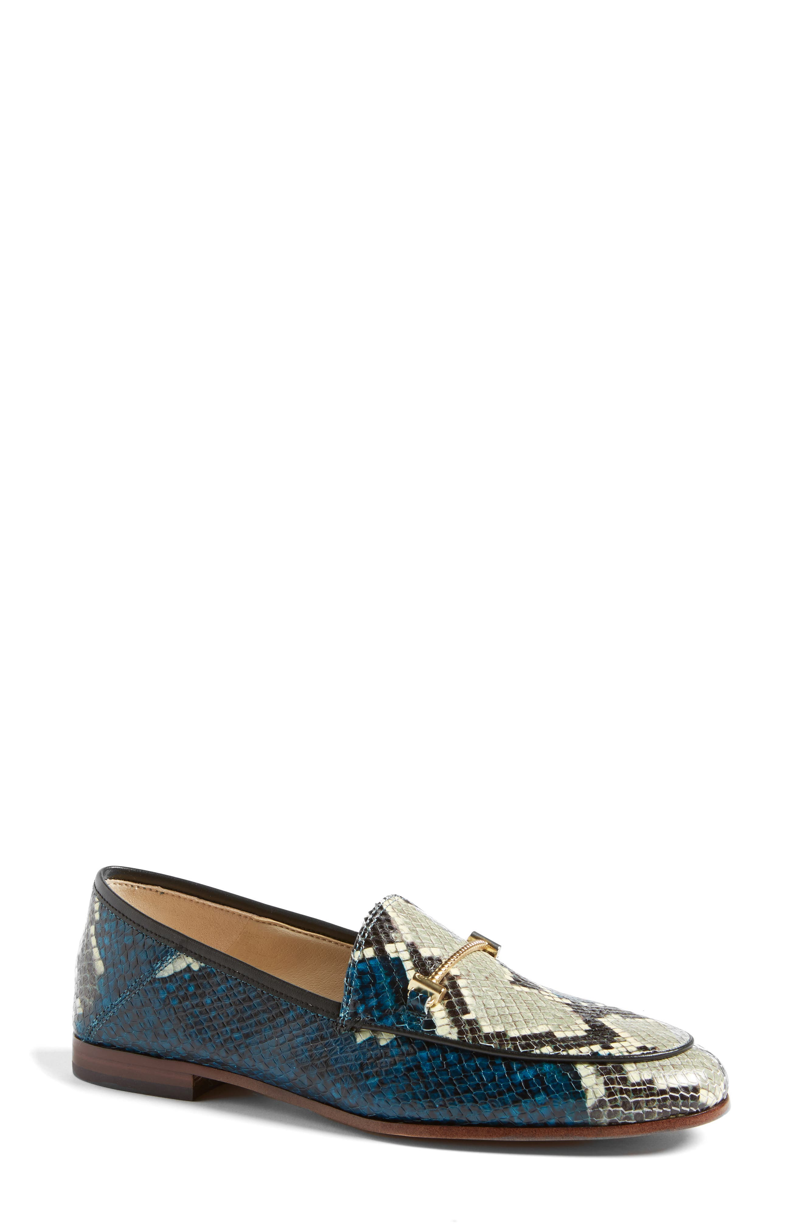Lior Loafer,                             Main thumbnail 1, color,                             Peacock Blue Snake Print