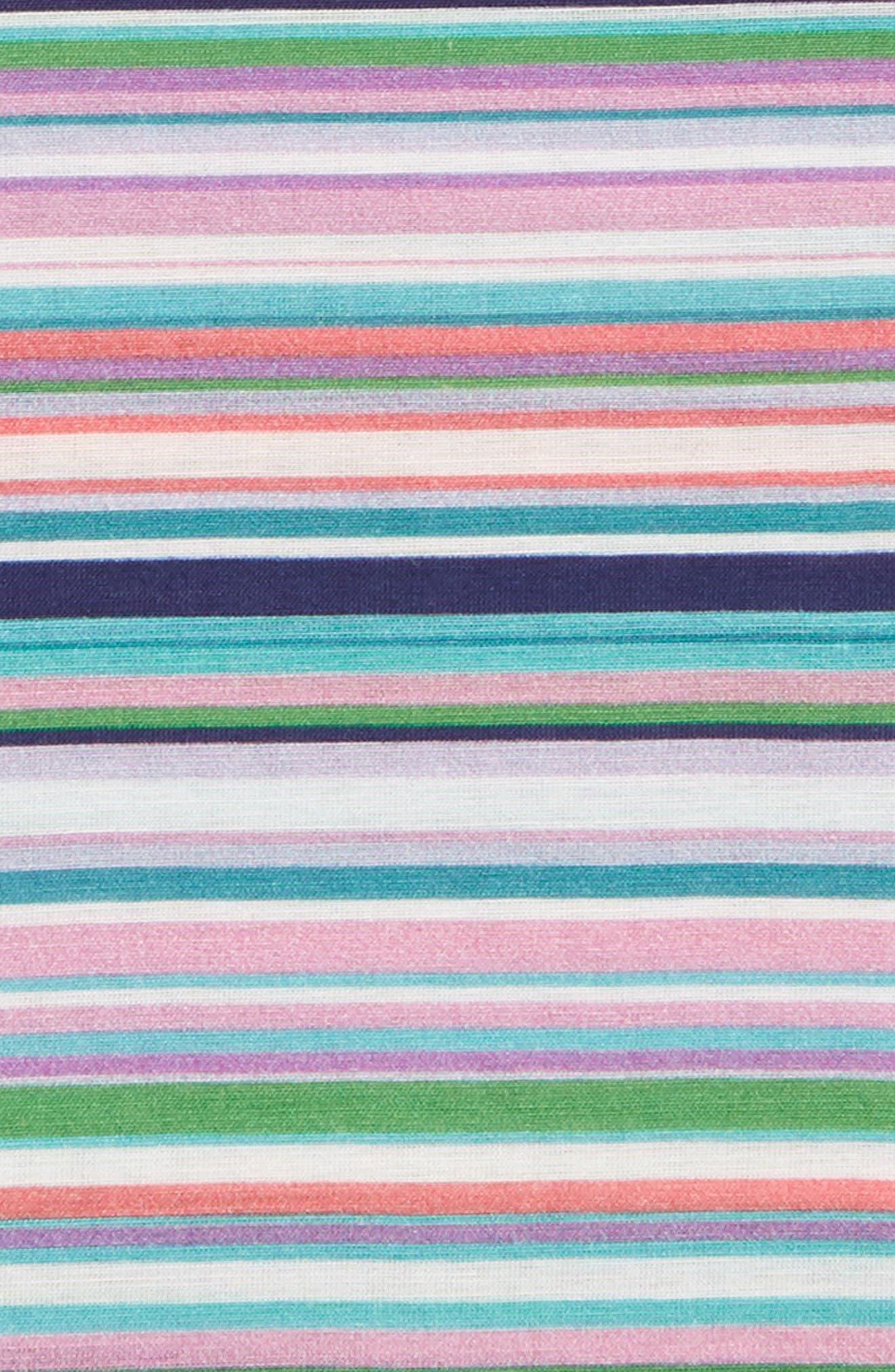 Savannah Stripe Cotton & Silk Pocket Square,                             Alternate thumbnail 2, color,                             Green