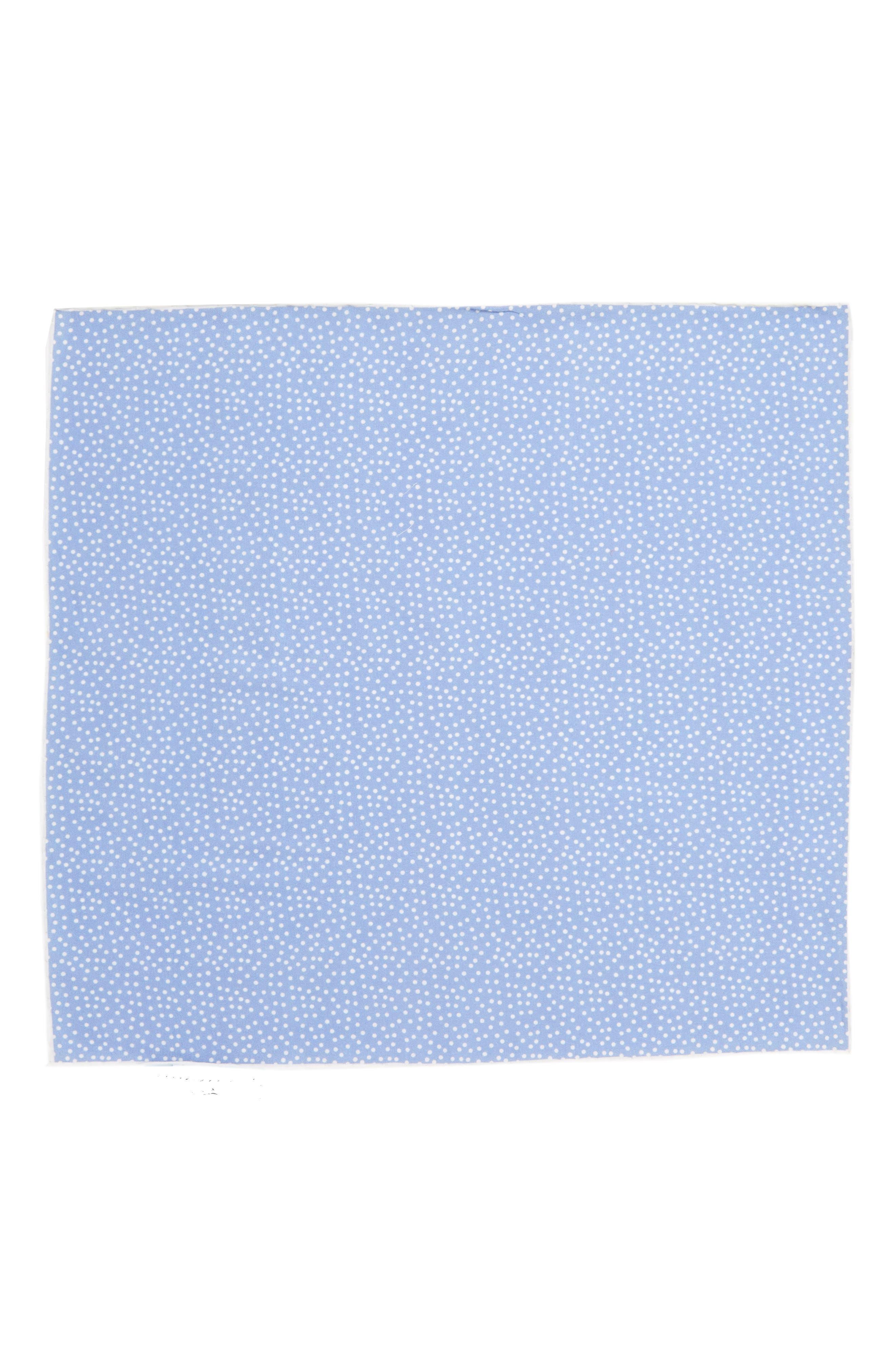 Sagamore Spots Cotton & Silk Pocket Square,                             Alternate thumbnail 2, color,                             Blue