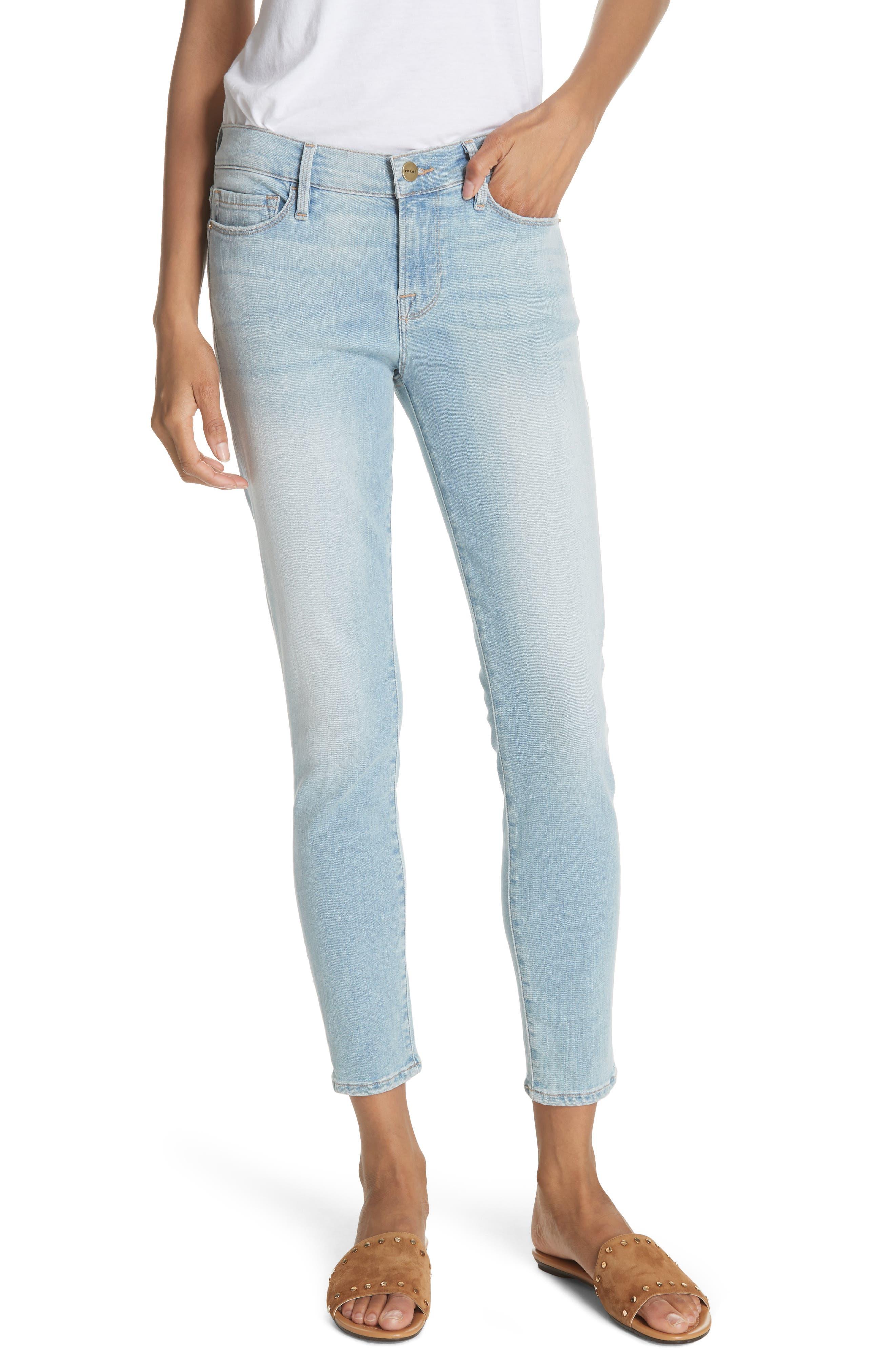 Le Skinny de Jeanne Crop Jeans,                             Main thumbnail 1, color,                             Southall
