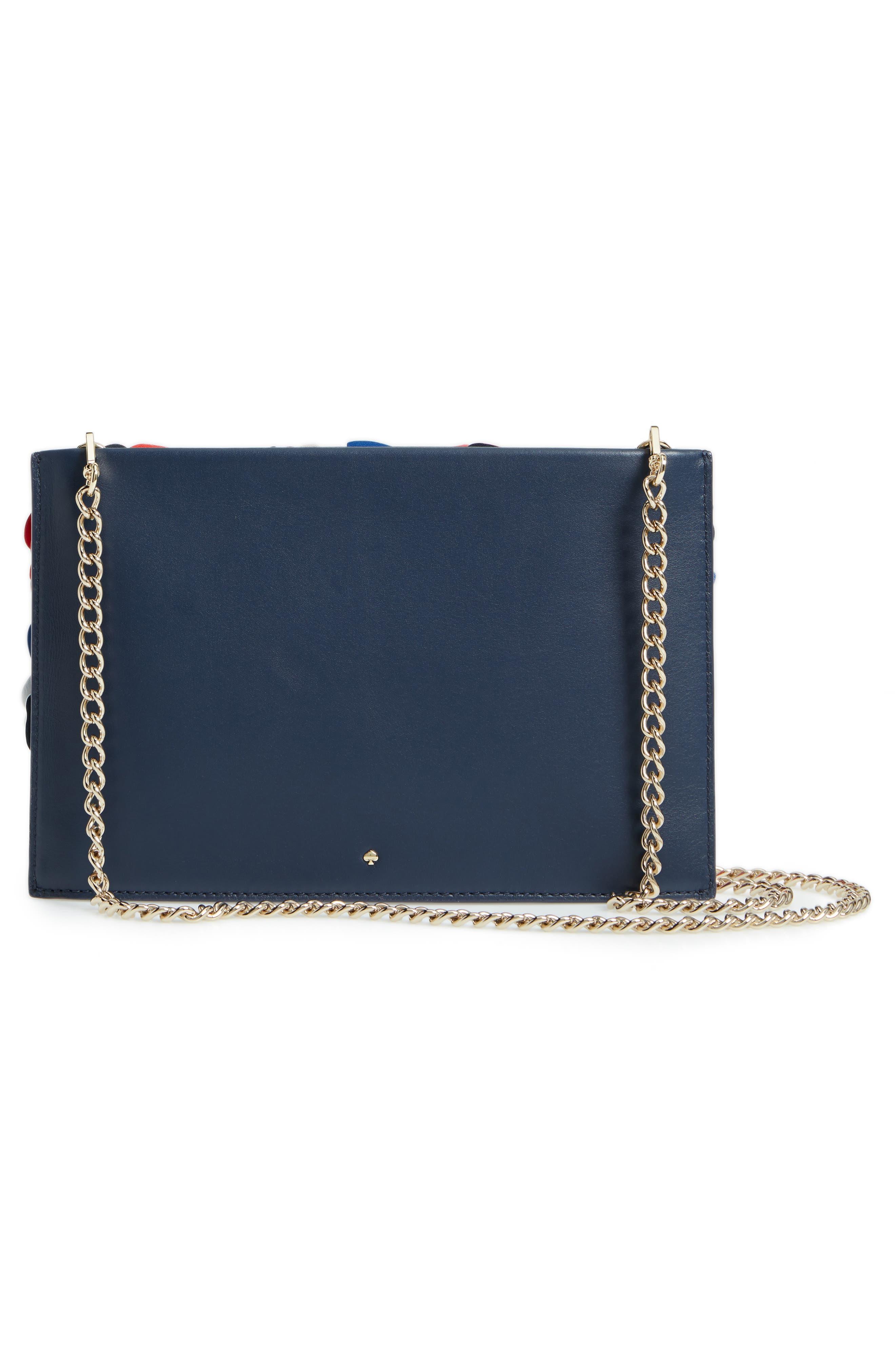 madison daisy lane - sima leather crossbody bag,                             Alternate thumbnail 3, color,                             Blazer Blue Multi