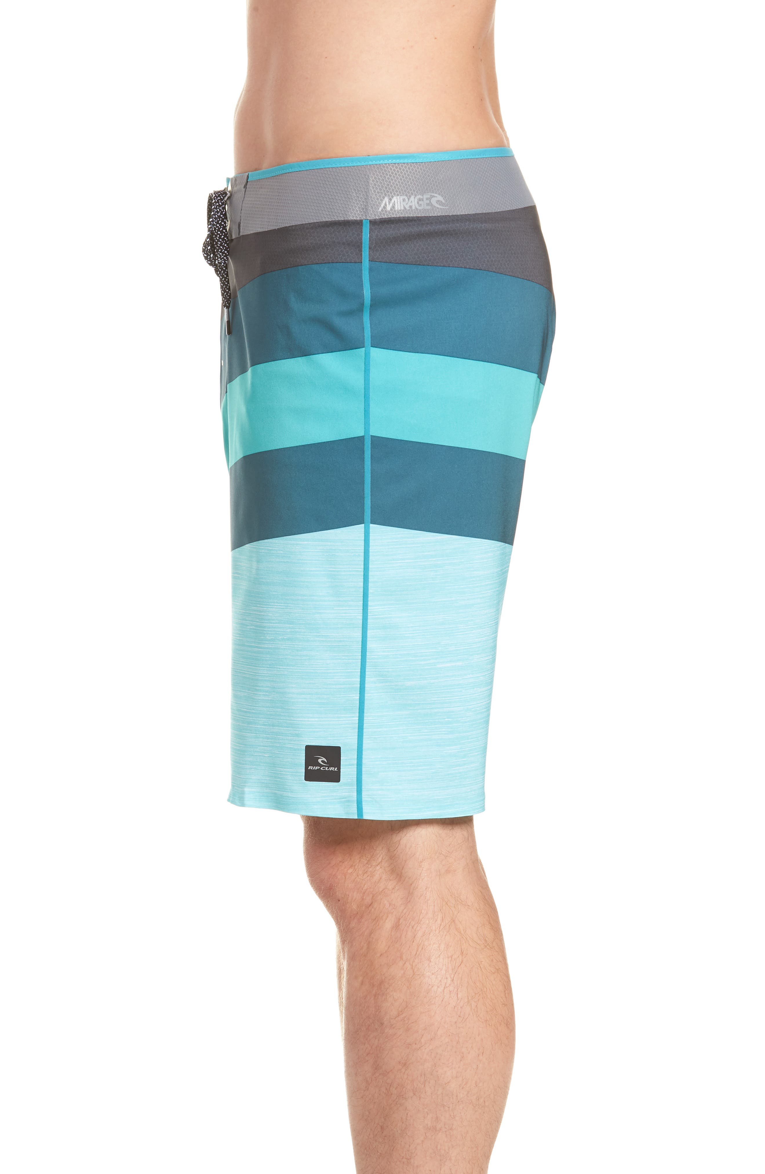 Mirage React Ultimate Board Short,                             Alternate thumbnail 3, color,                             Teal