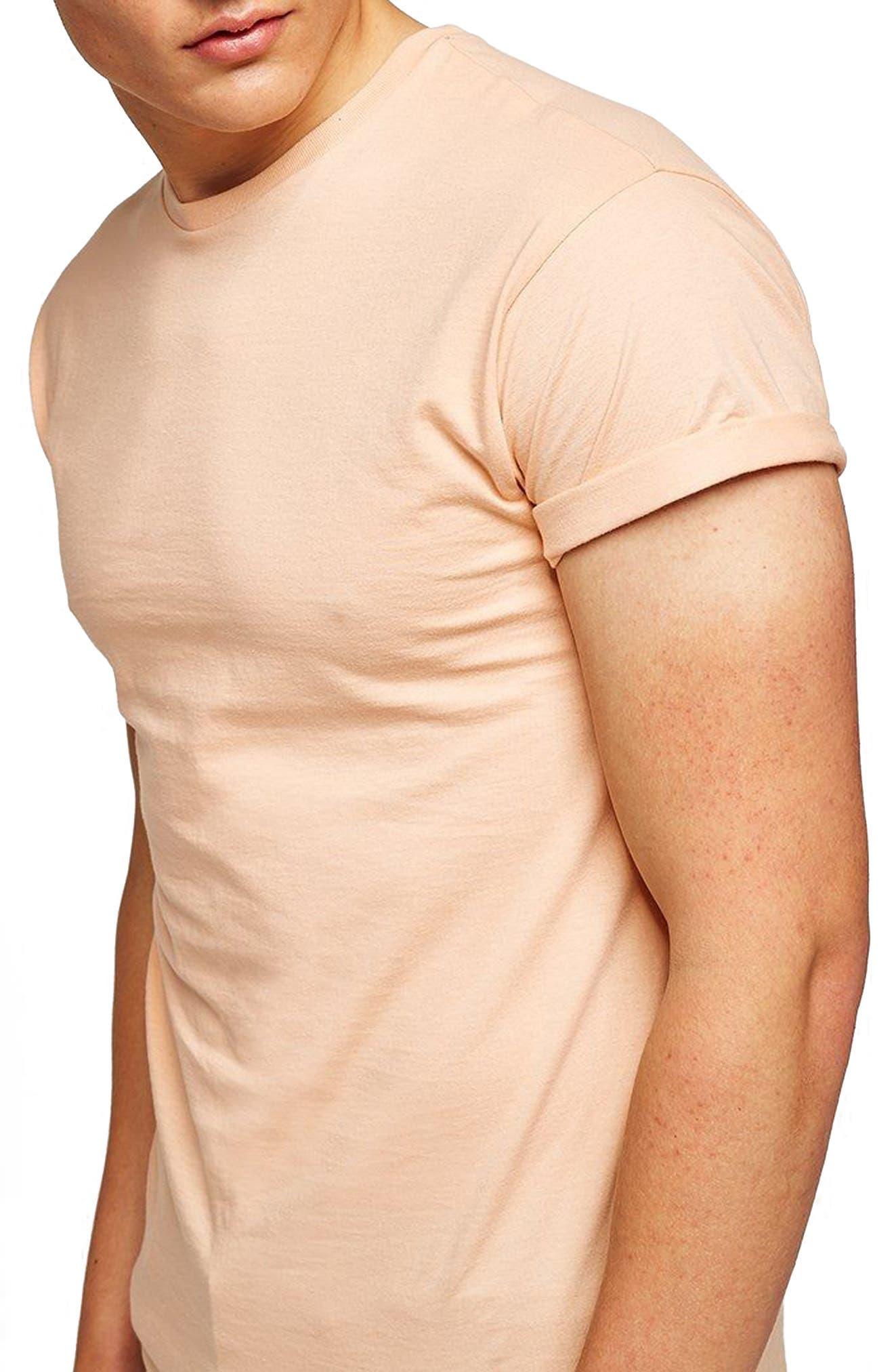 Muscle Fit Roller T-Shirt,                         Main,                         color, Orange