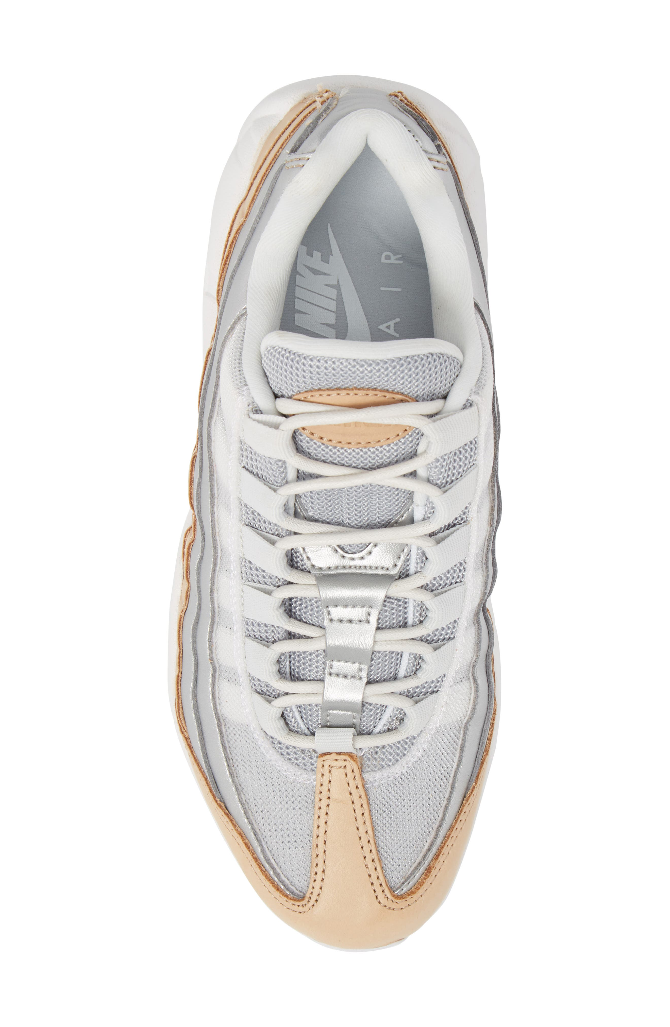 Air Max 95 Special Edition Running Shoe,                             Alternate thumbnail 5, color,                             Platinum/ Silver/ White