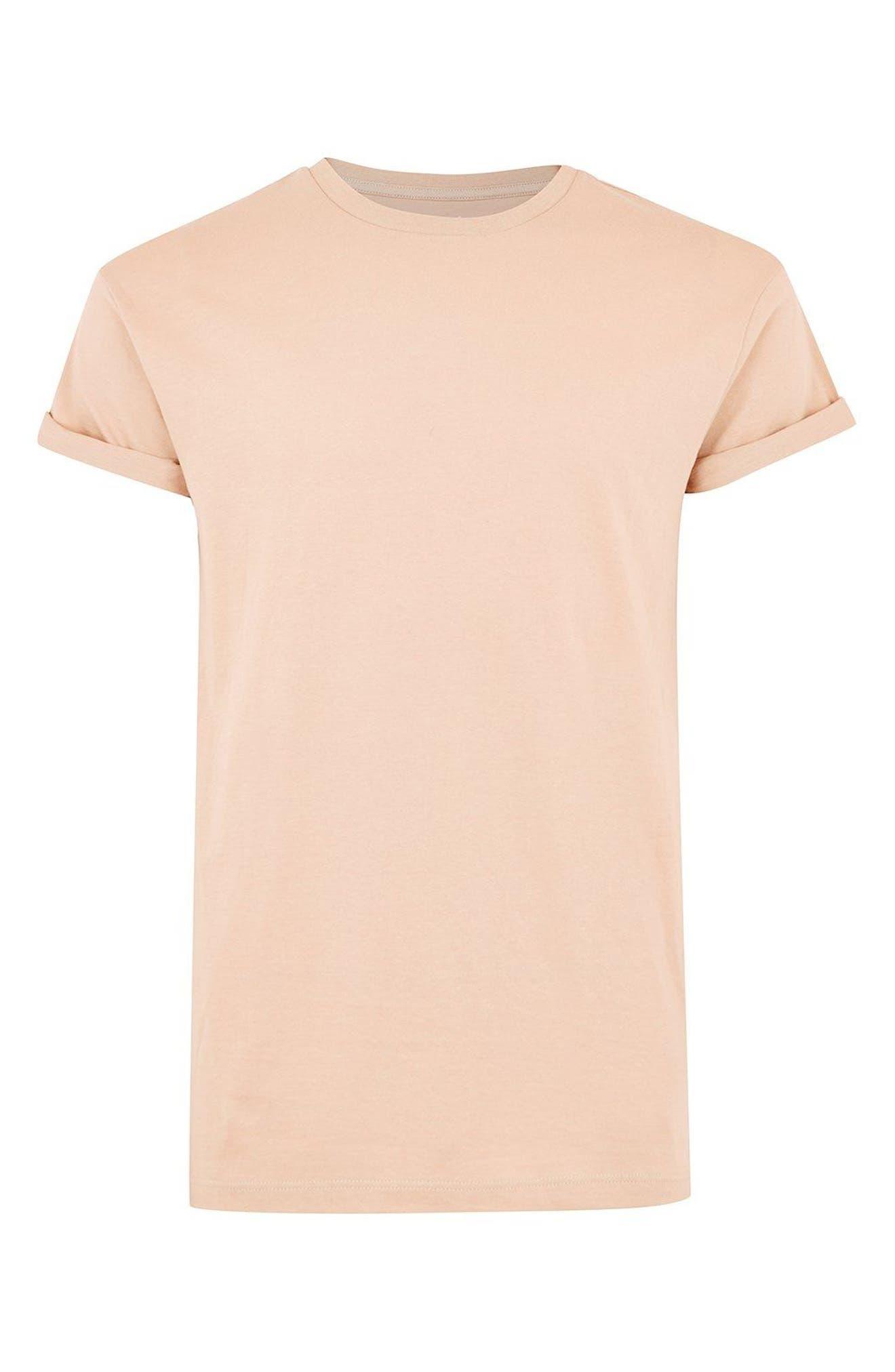 Muscle Fit Roller T-Shirt,                             Alternate thumbnail 2, color,                             Orange