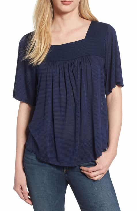 Lucky Brand Shadow Stripe Peasant Top 04a632d41