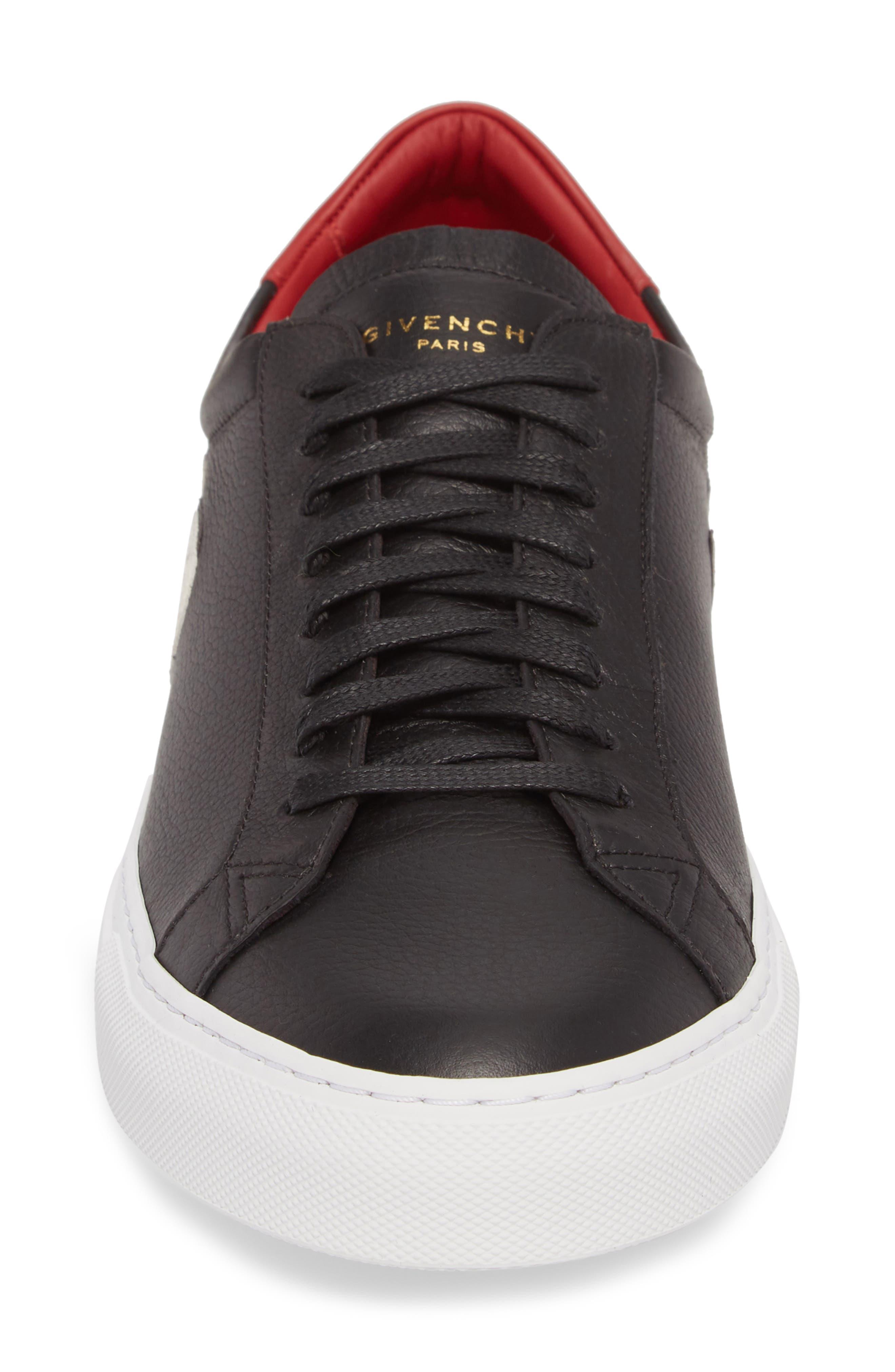 Urban Street Upside Down Sneaker,                             Alternate thumbnail 4, color,                             Black/ Red