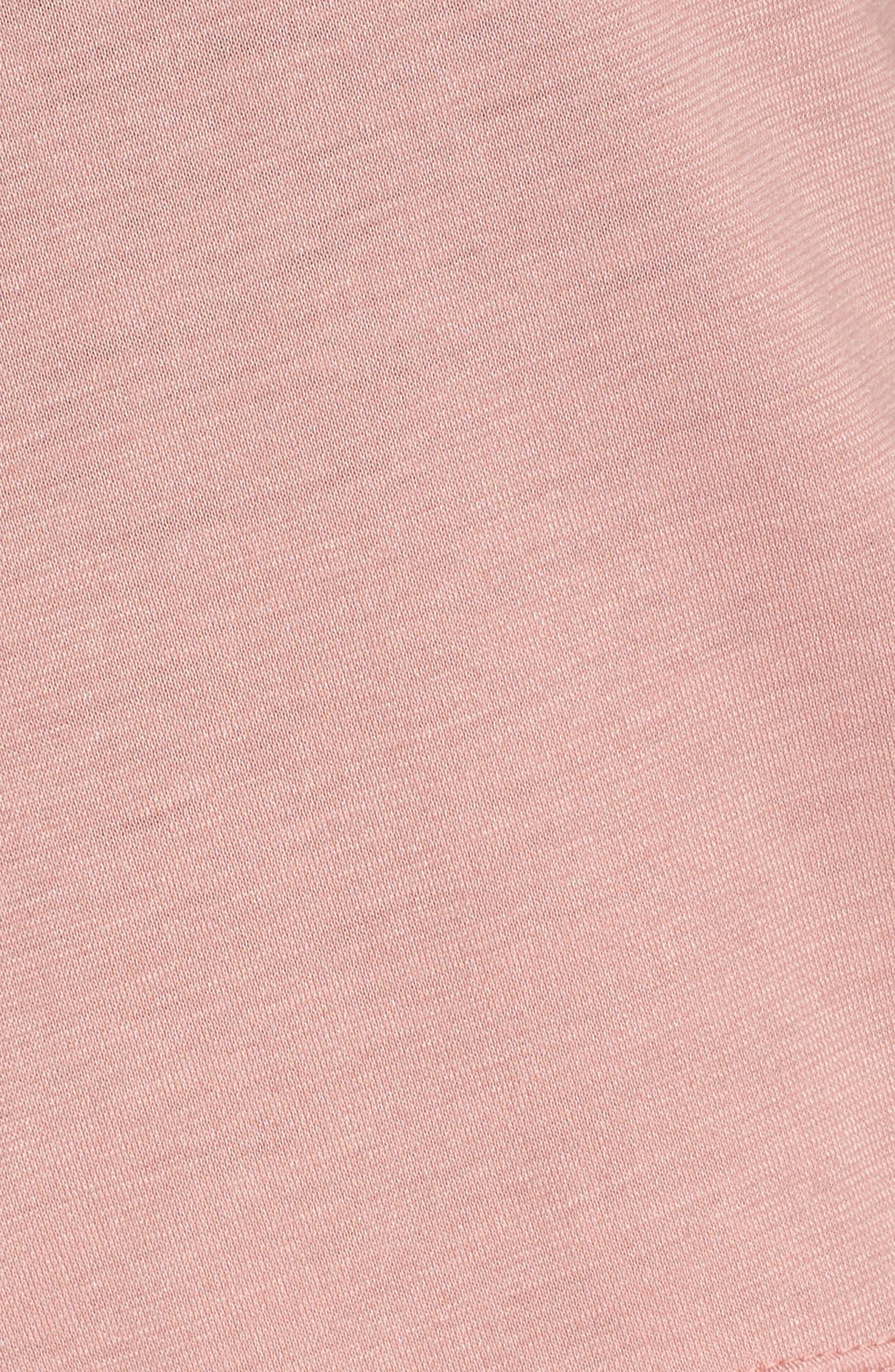 Sportswear Crop Top,                             Alternate thumbnail 6, color,                             Rust Pink/ White