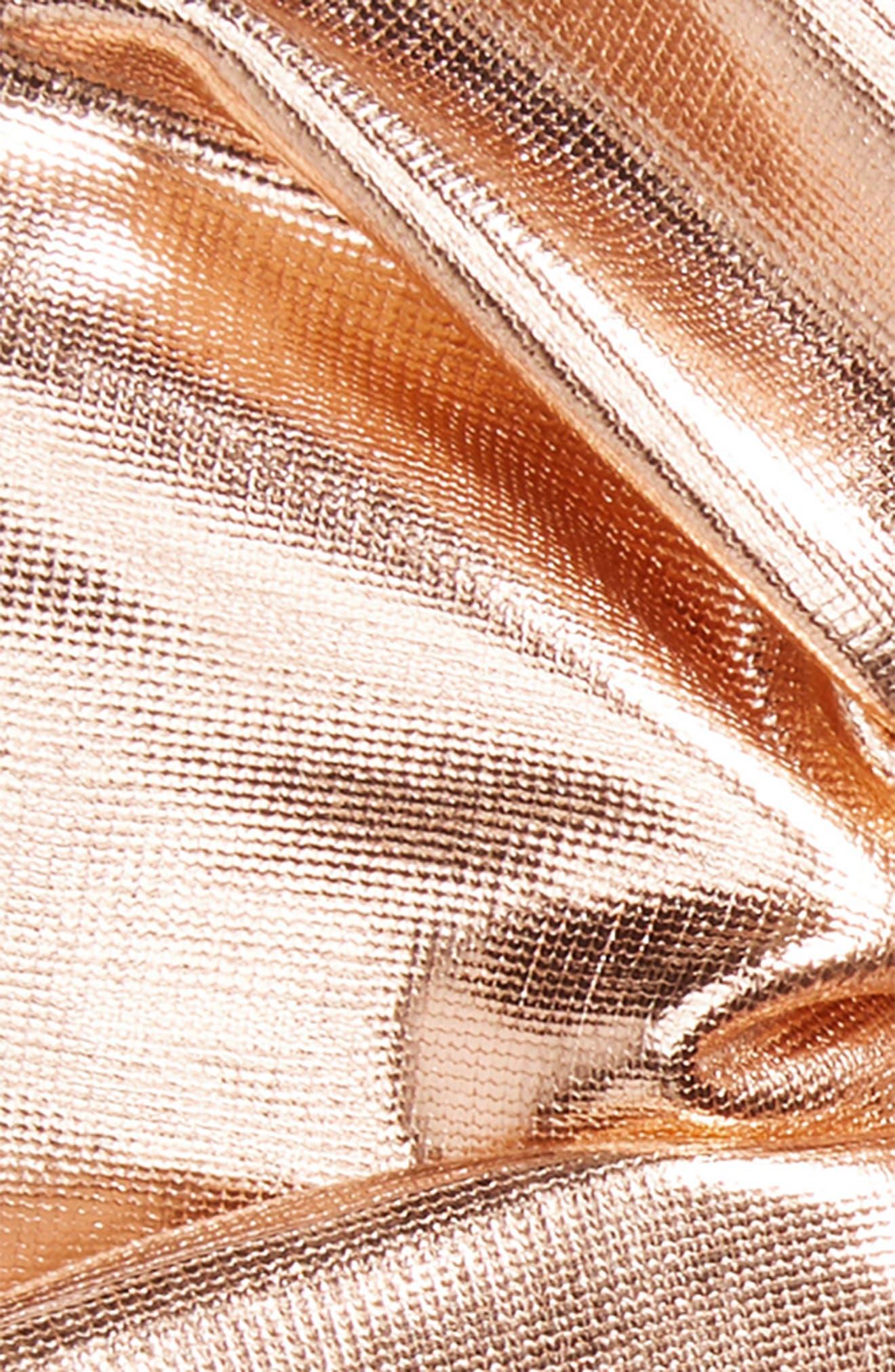 Metallic Scrunchie,                             Alternate thumbnail 2, color,                             Rose Gold