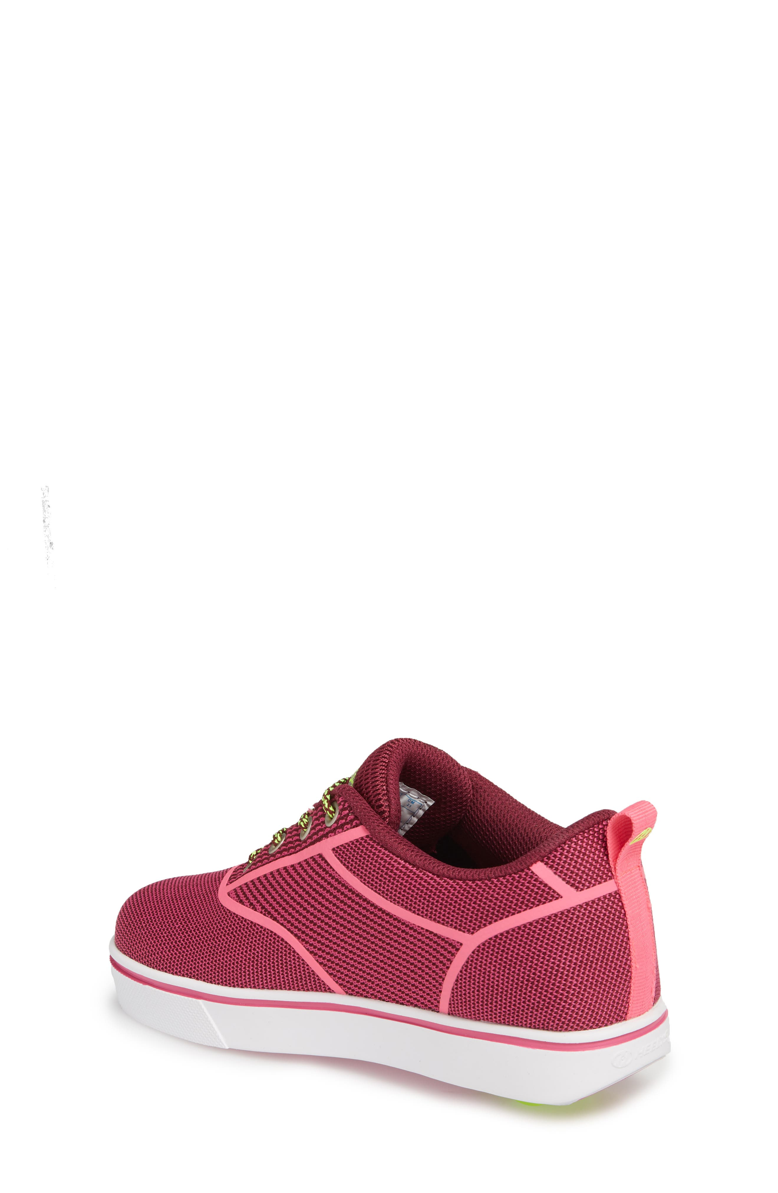 Launch Knit Sneaker,                             Alternate thumbnail 2, color,                             Berry/ Pink