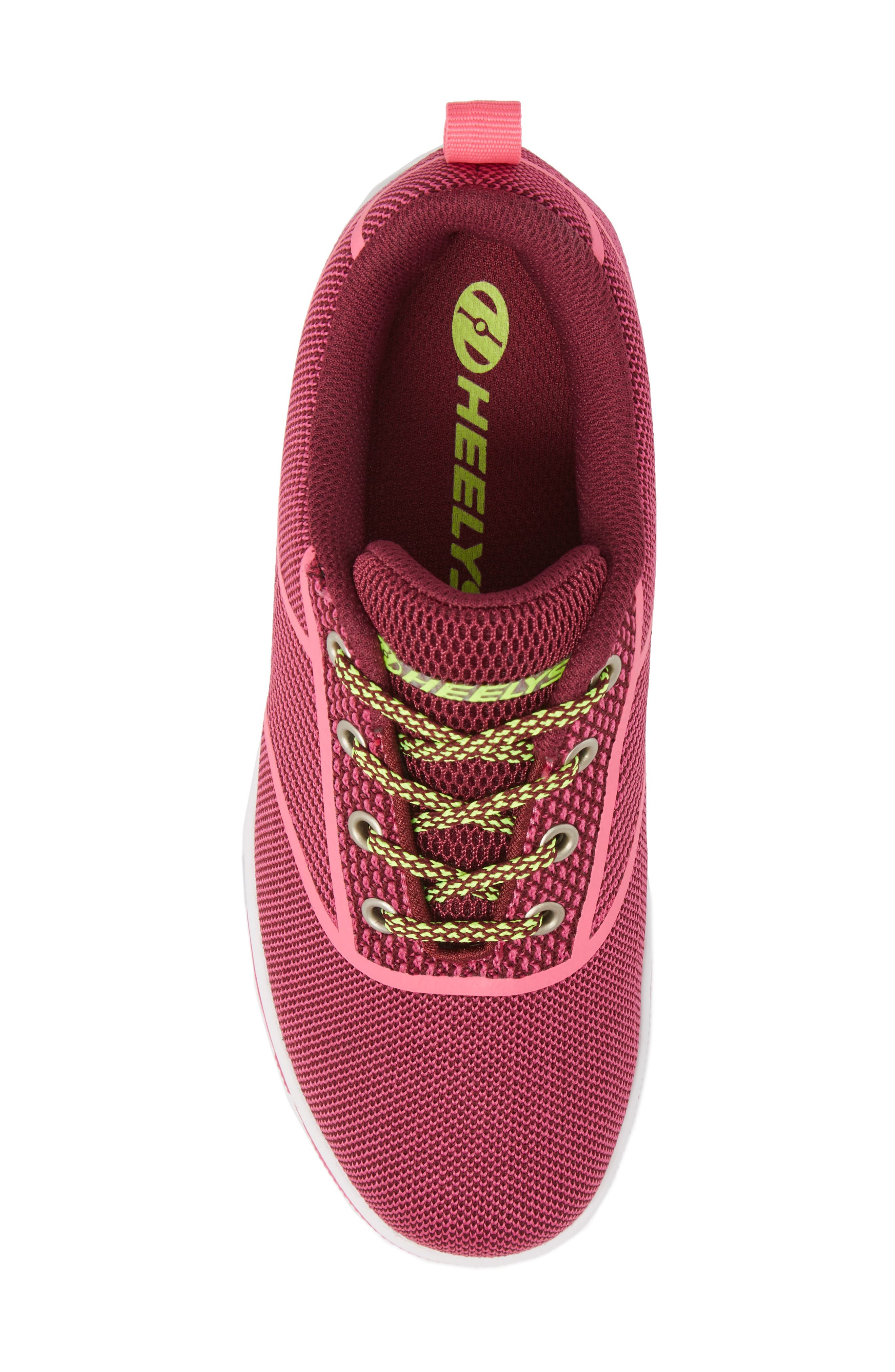 Launch Knit Sneaker,                             Alternate thumbnail 5, color,                             Berry/ Pink