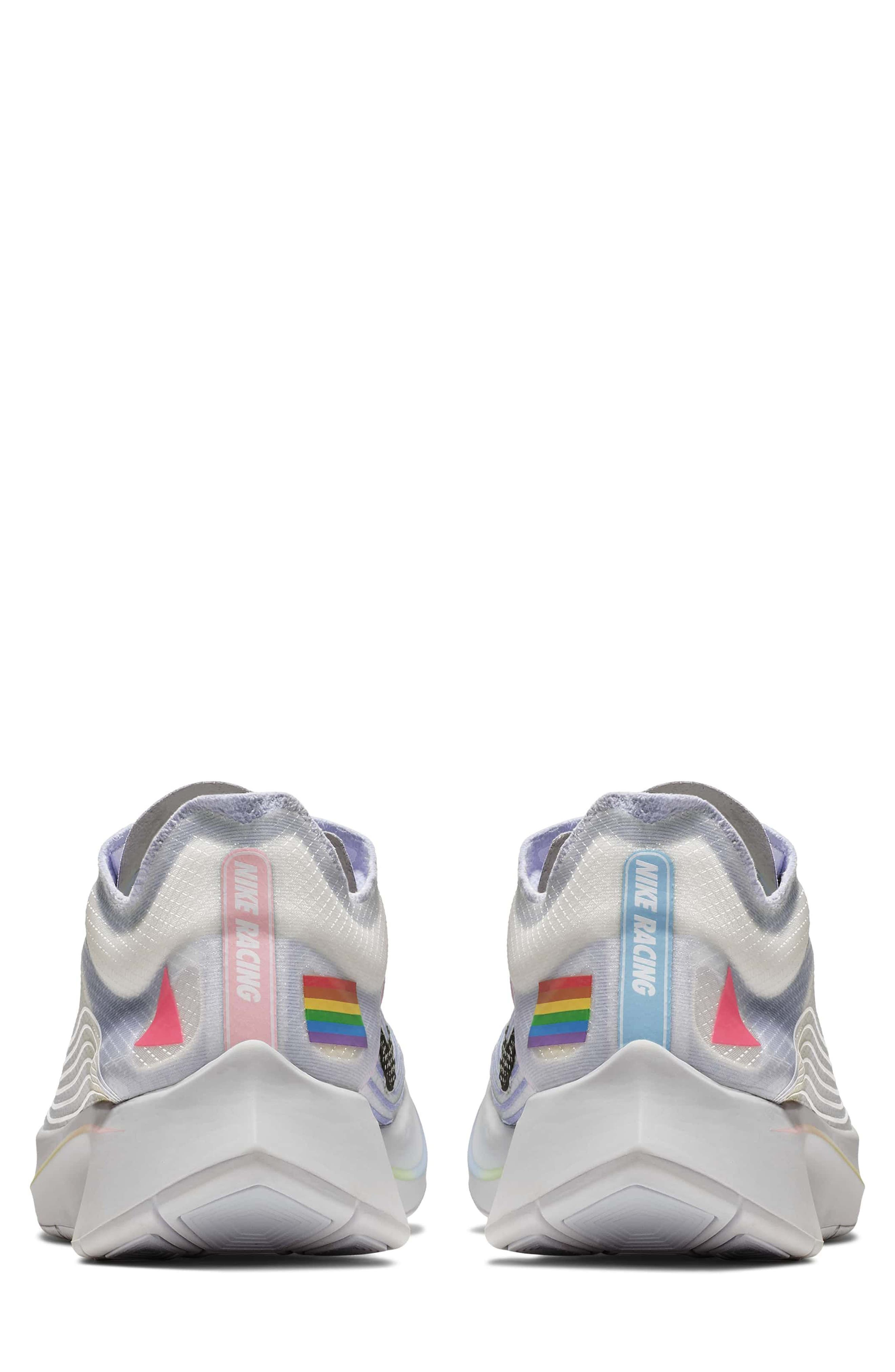 Nordstrom x Nike Zoom Fly BETRUE Running Shoe,                             Alternate thumbnail 2, color,                             White/ Black/ Palest Purple