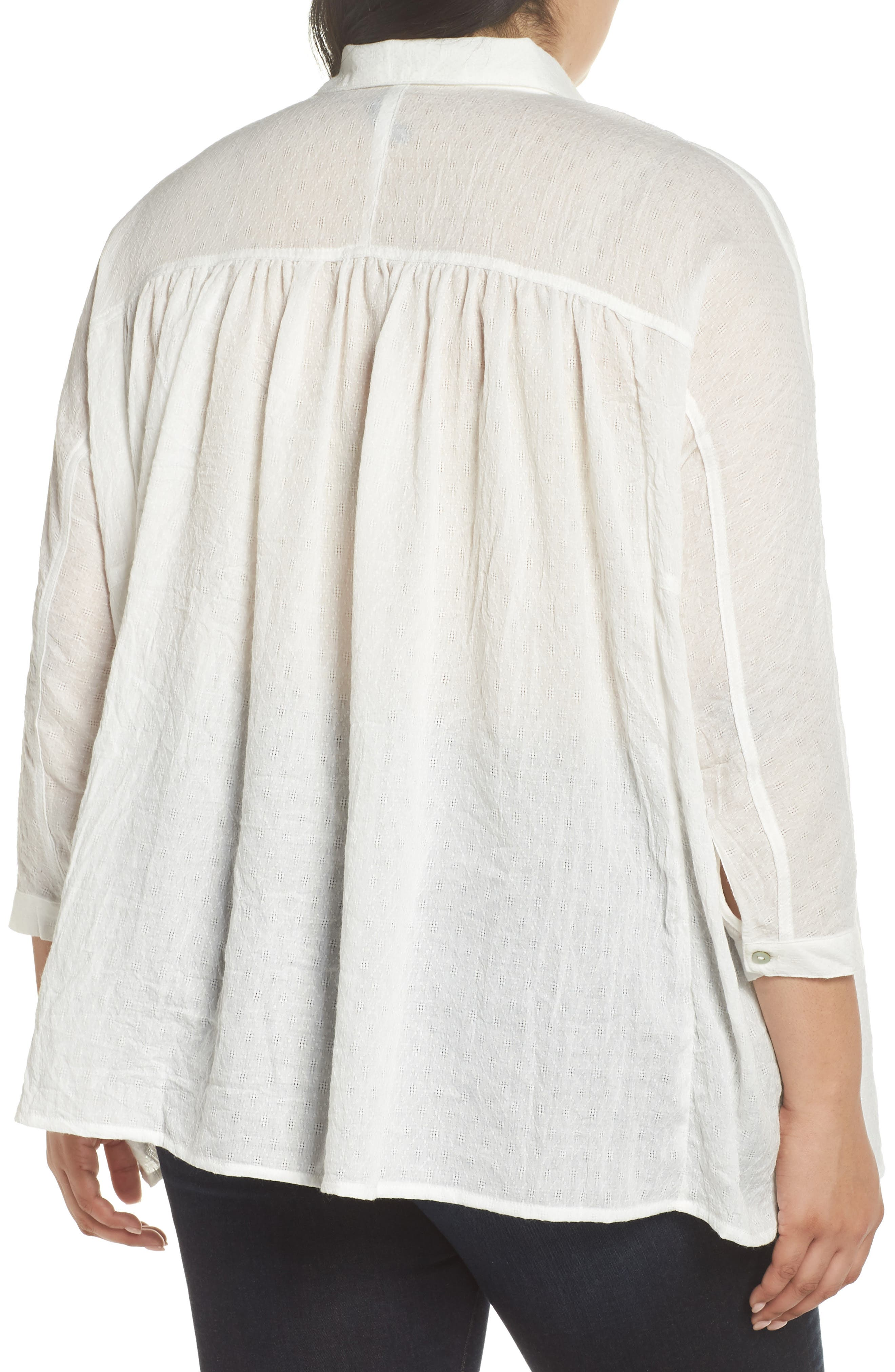 Babydoll High/Low Top,                             Alternate thumbnail 2, color,                             Ivory
