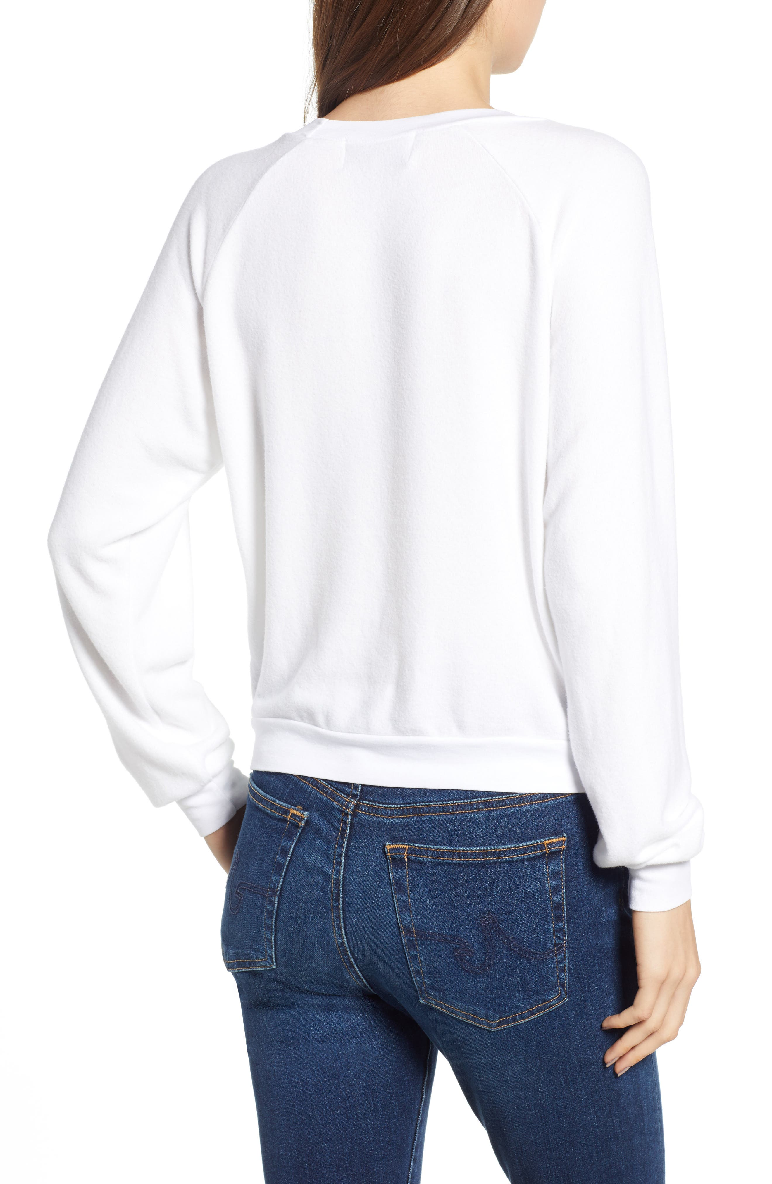 Ask Me About My Dog Sweatshirt,                             Alternate thumbnail 2, color,                             Clean White