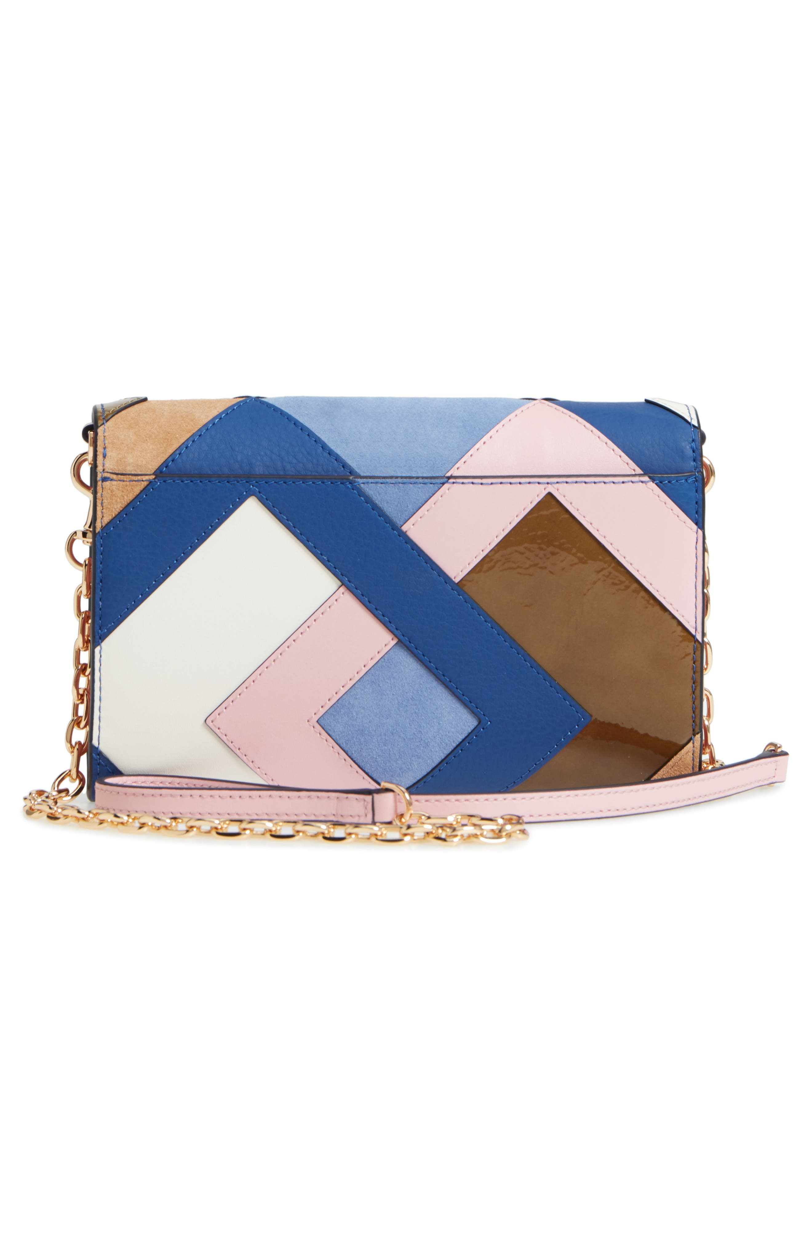 Robinson Colorblock Leather Wallet on a Chain,                             Alternate thumbnail 3, color,                             Multi