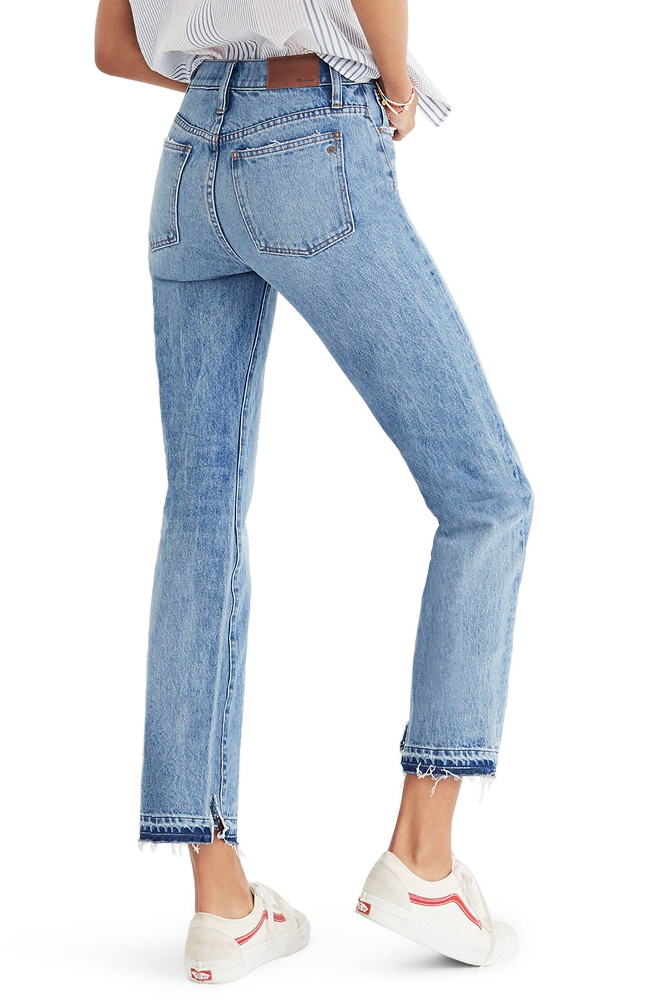 Classic Distressed Straight Leg Jeans,                             Alternate thumbnail 2, color,                             Tyler