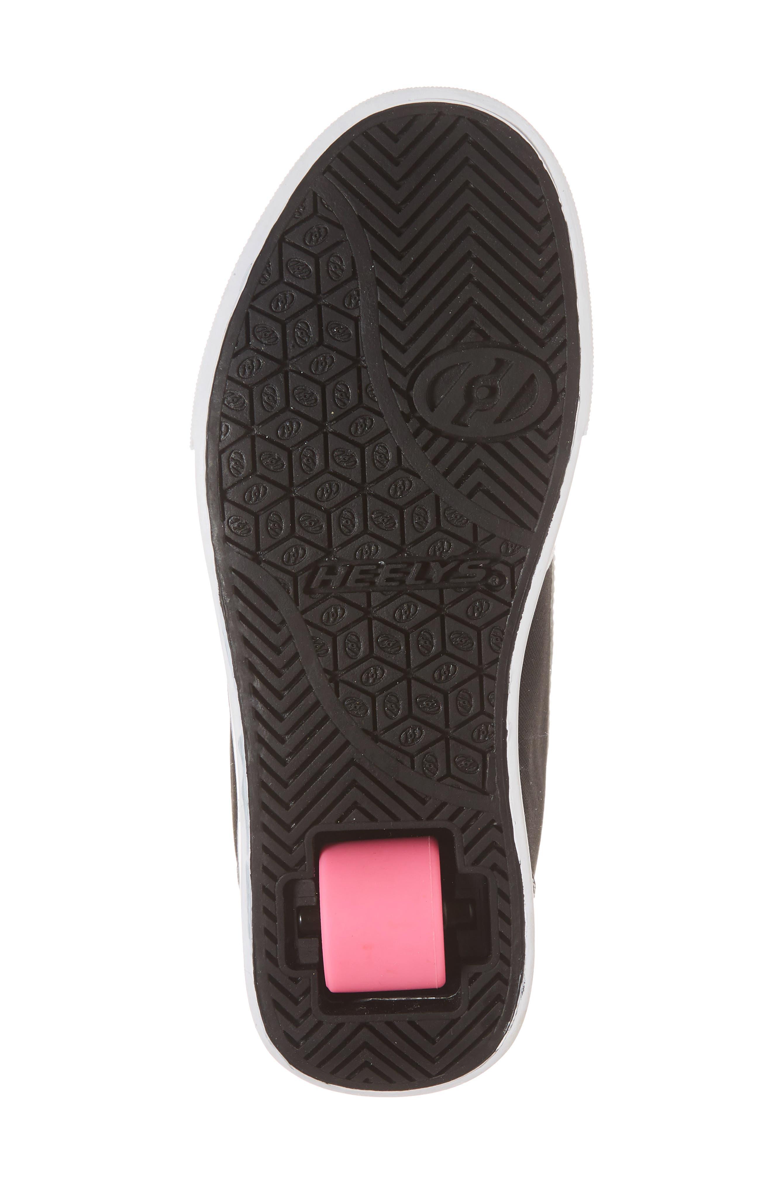 GR8 Pro Wheeled Sneaker,                             Alternate thumbnail 6, color,                             Black/ White/ Hot Pink