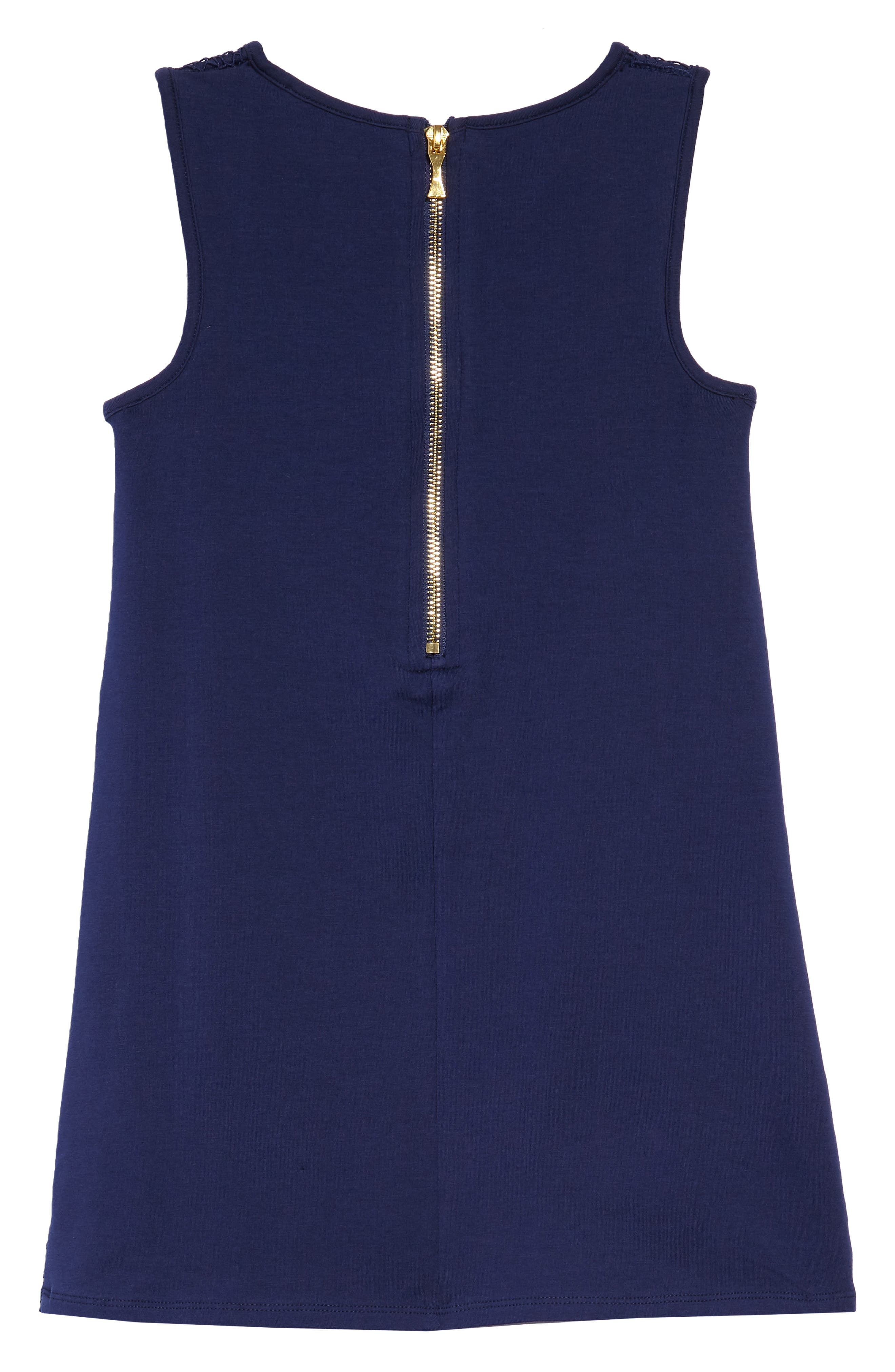 lace shift dress,                             Alternate thumbnail 2, color,                             New Navy