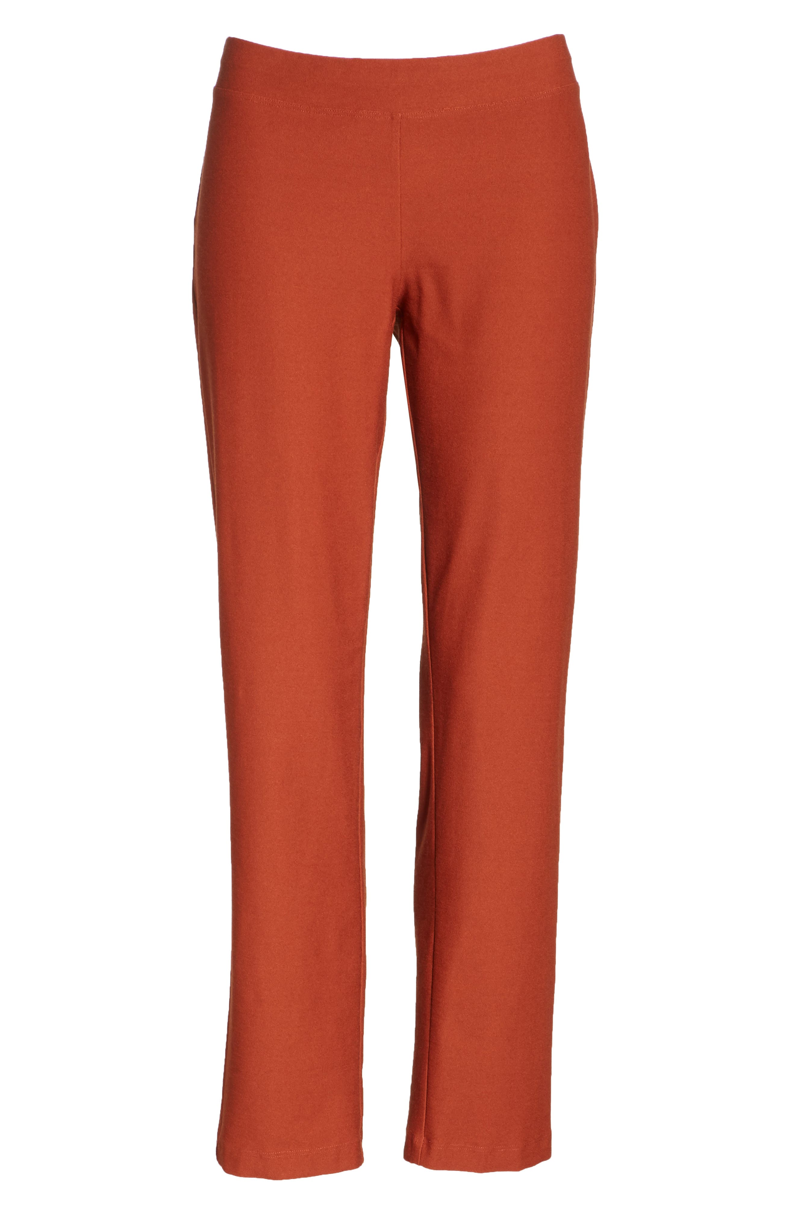 Stretch Crepe Slim Ankle Pants,                             Alternate thumbnail 7, color,                             Deep Pekoe