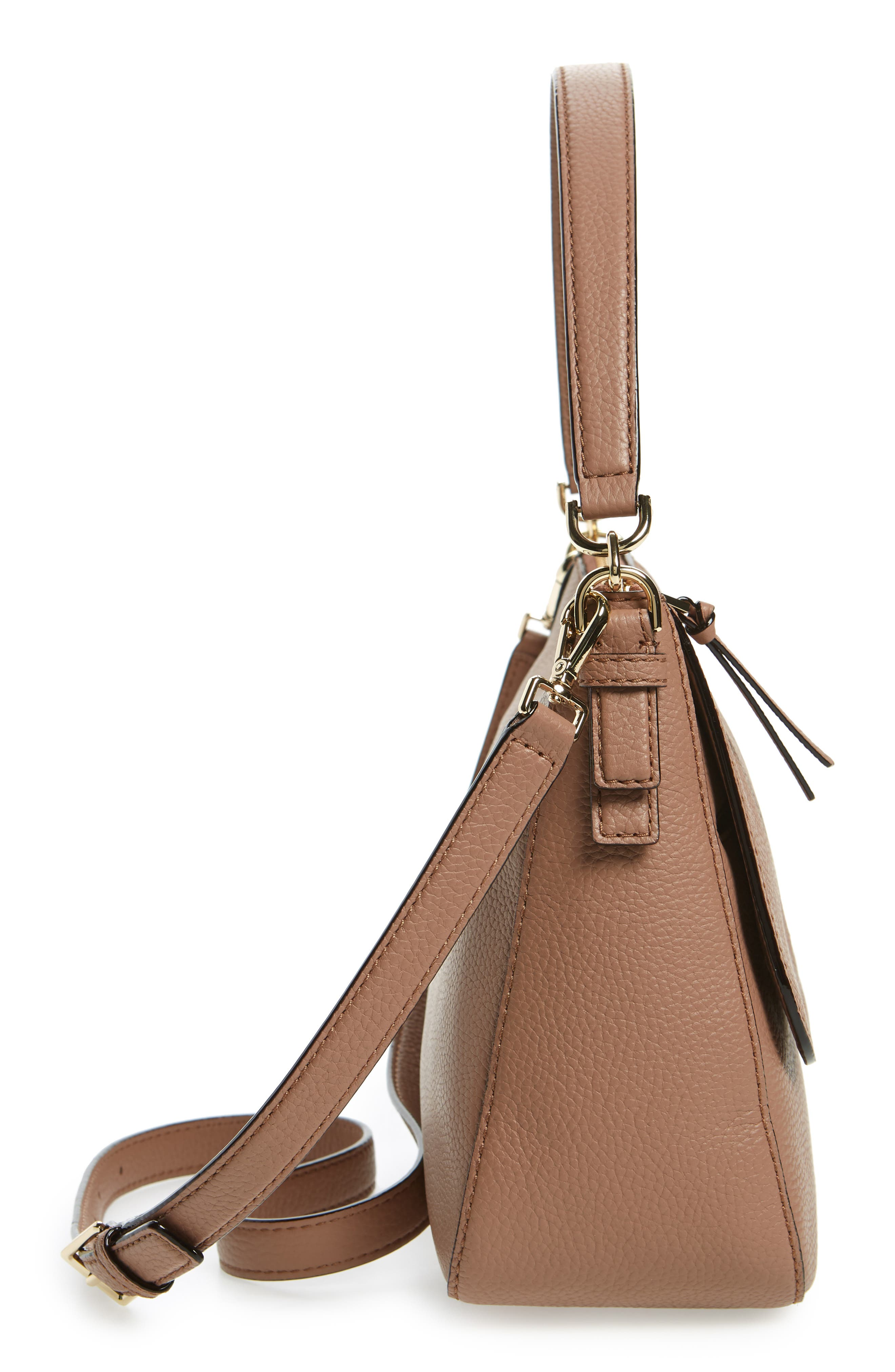 jackson street - colette leather satchel,                             Alternate thumbnail 5, color,                             Toasty