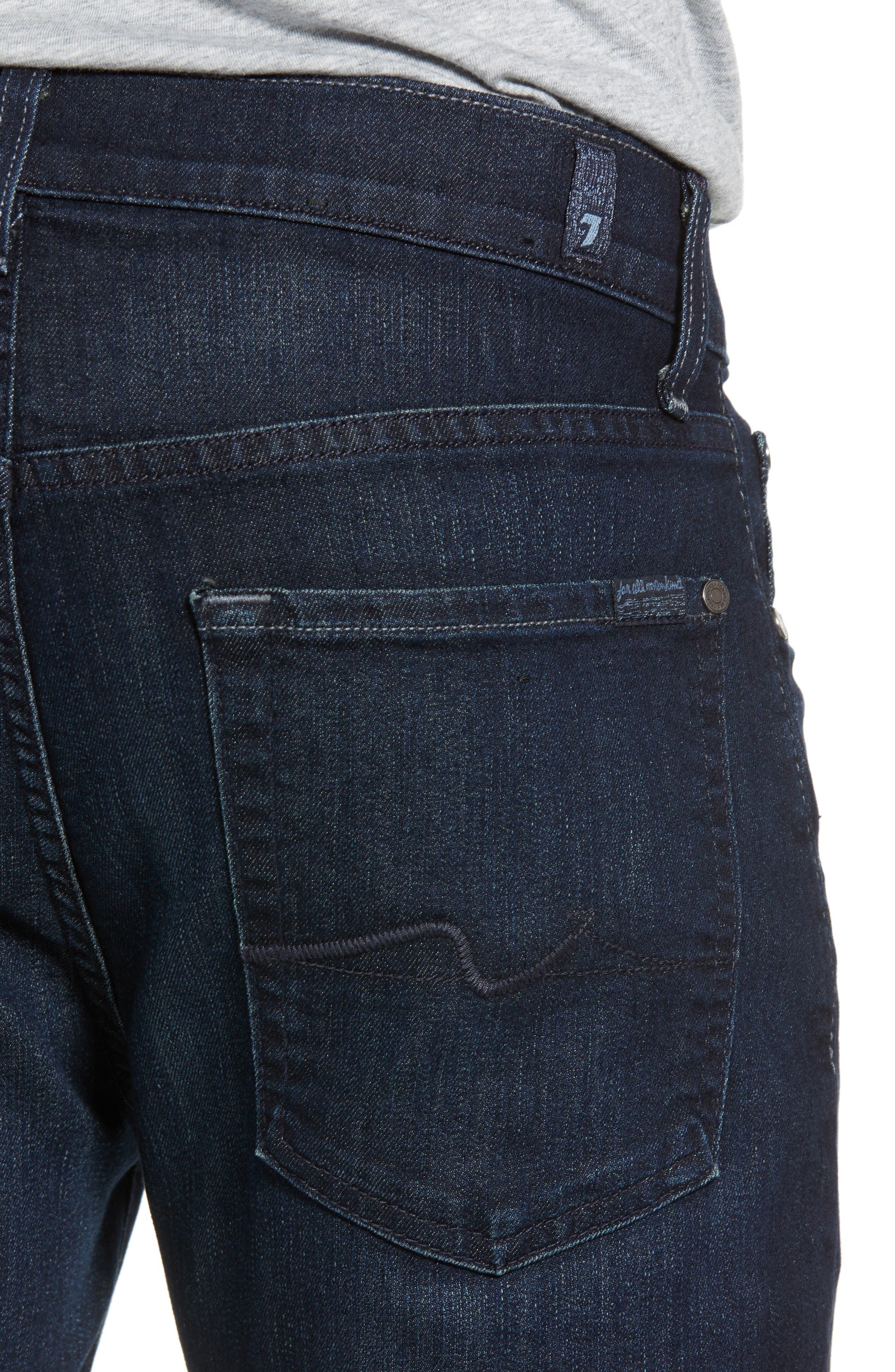 Airweft Standard Straight Leg Jeans,                             Alternate thumbnail 4, color,                             Perennial