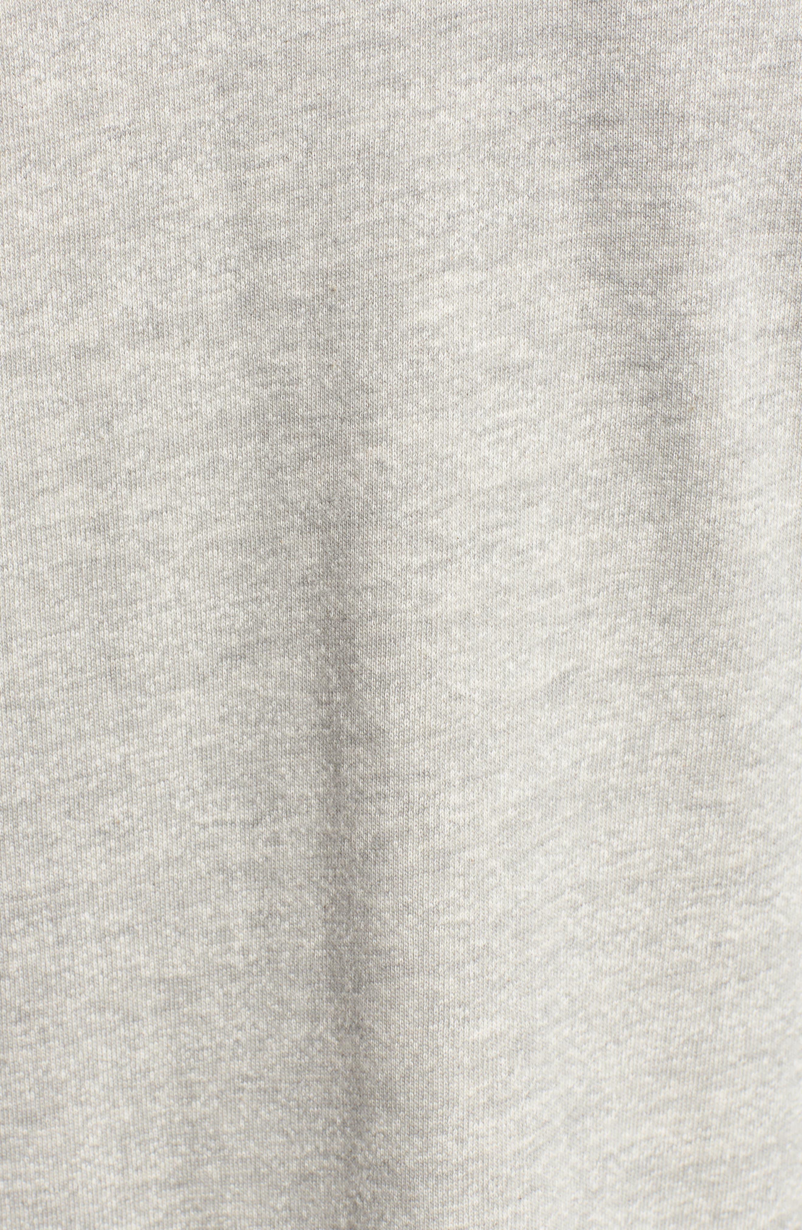Off-Duty Roll Sleeve Cotton Blend Jacket,                             Alternate thumbnail 6, color,                             Grey Heather