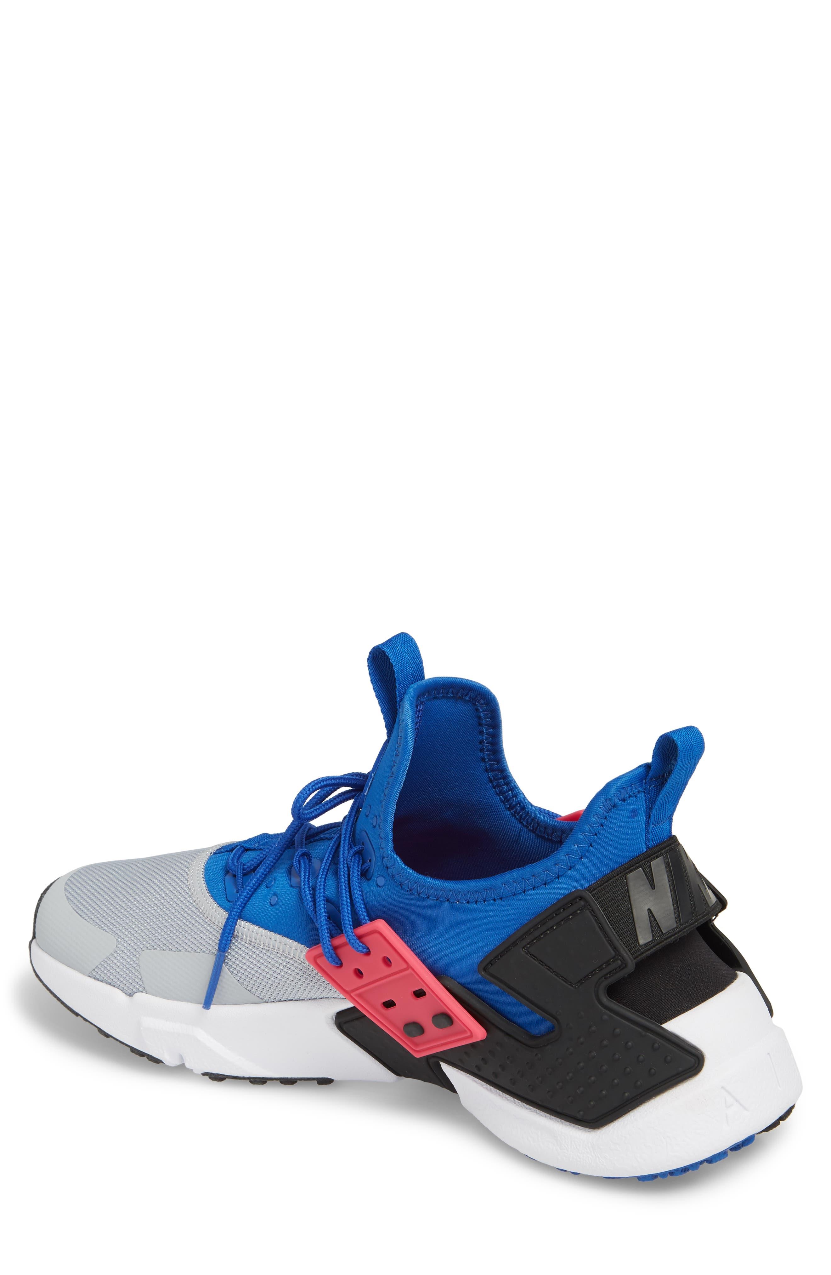 Air Huarache Drift Sneaker,                             Alternate thumbnail 2, color,                             Game Royal/ White/ Wolf Grey