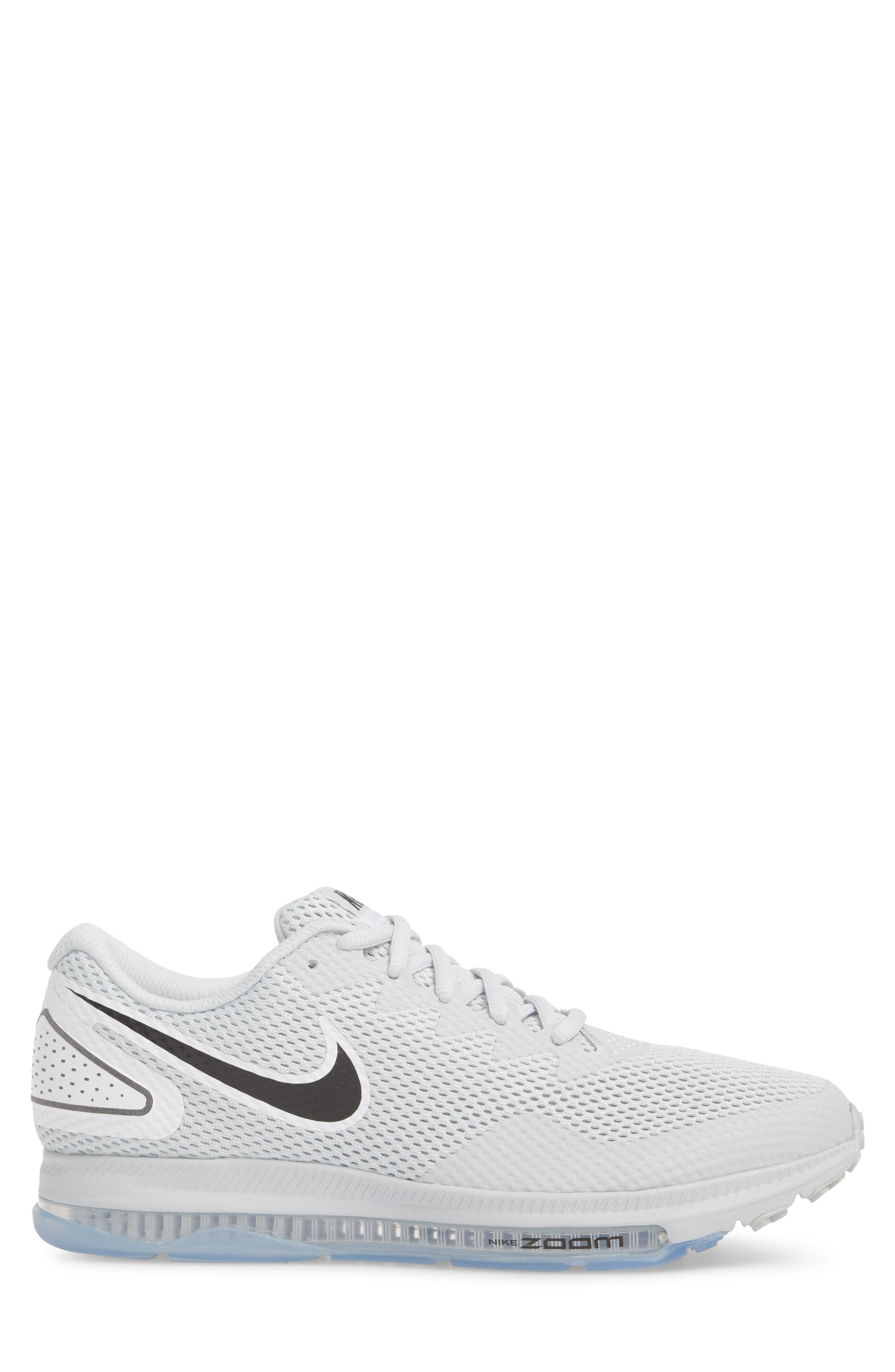 Zoom All Out Low 2 Running Shoe,                             Alternate thumbnail 5, color,                             Pure Platinum/ Black/ White