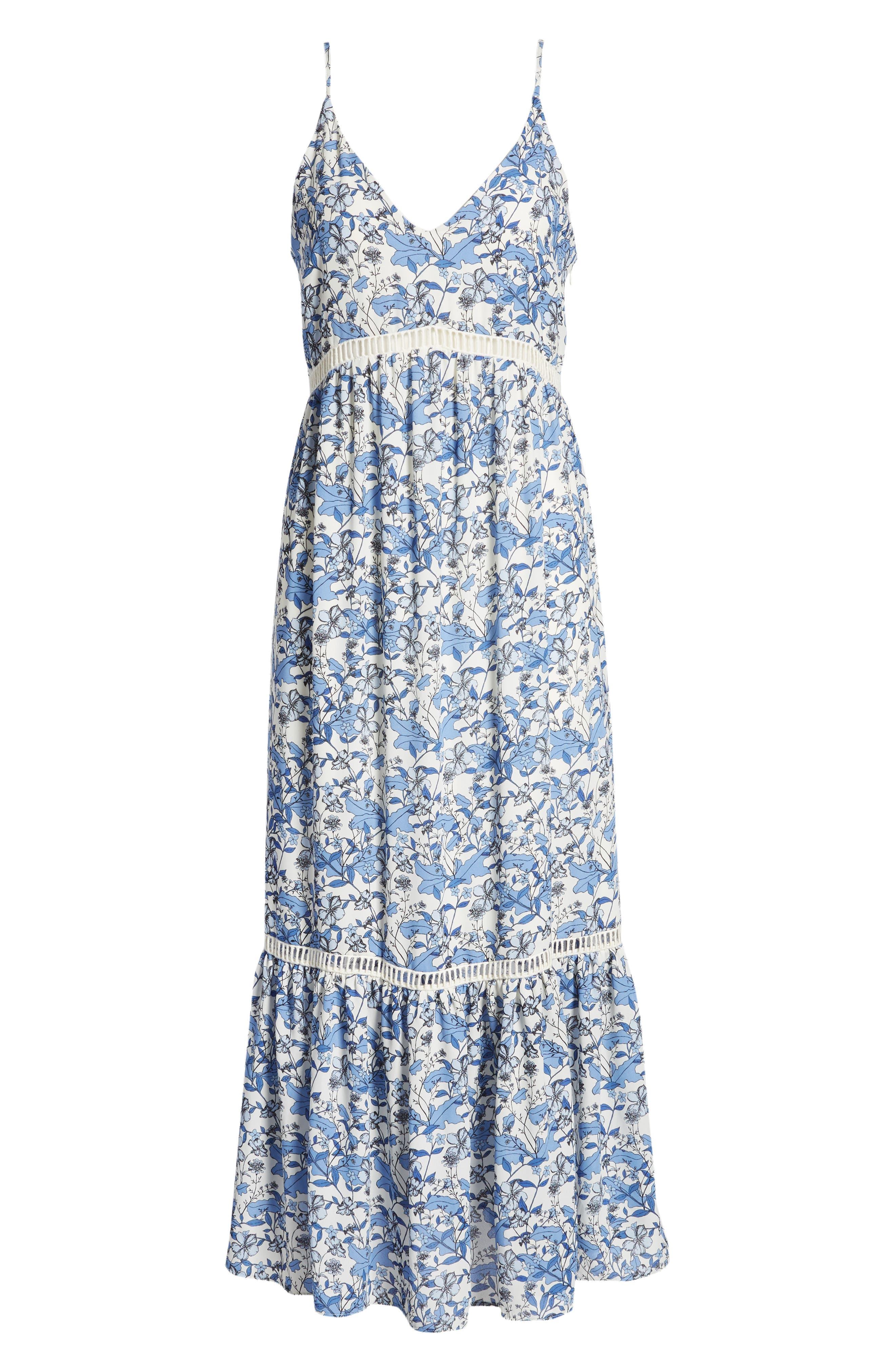 Ivy Forest Maxi Dress,                             Alternate thumbnail 7, color,                             Antique White