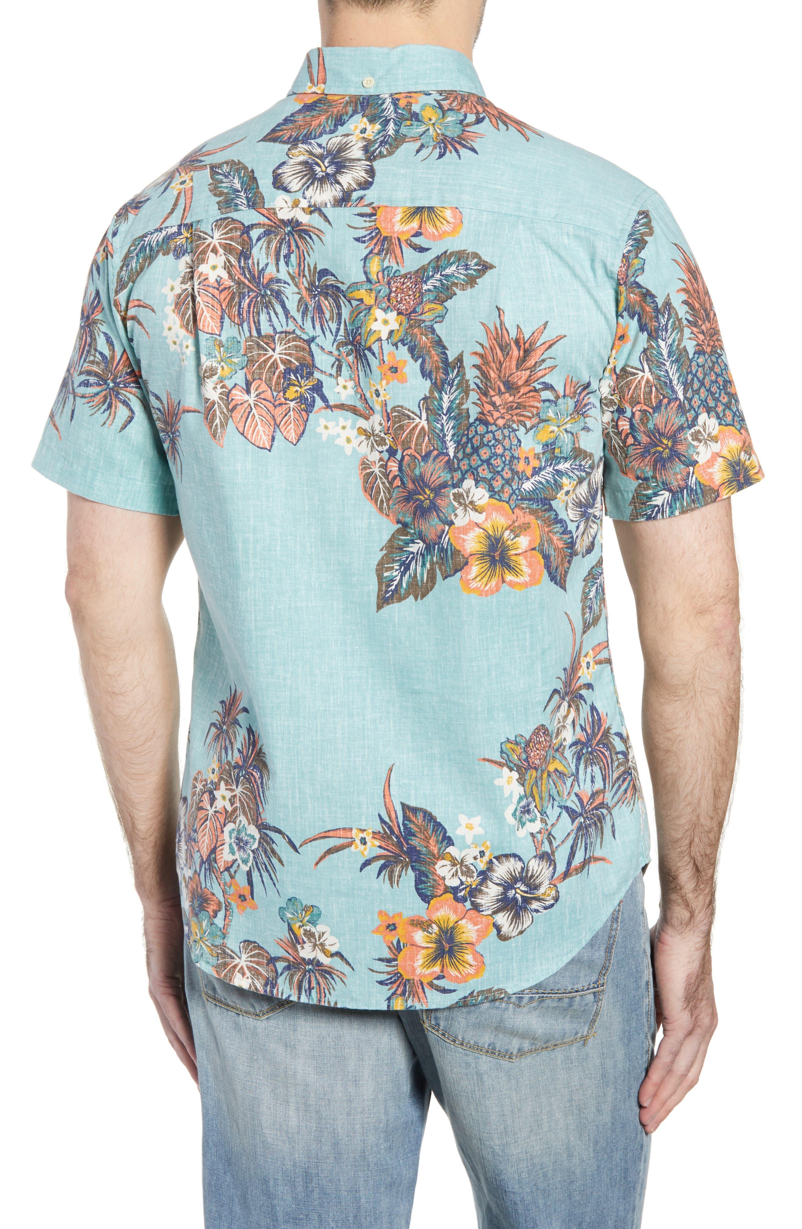Pupas & Mai Tais Regular Fit Sport Shirt,                             Alternate thumbnail 3, color,                             Blue