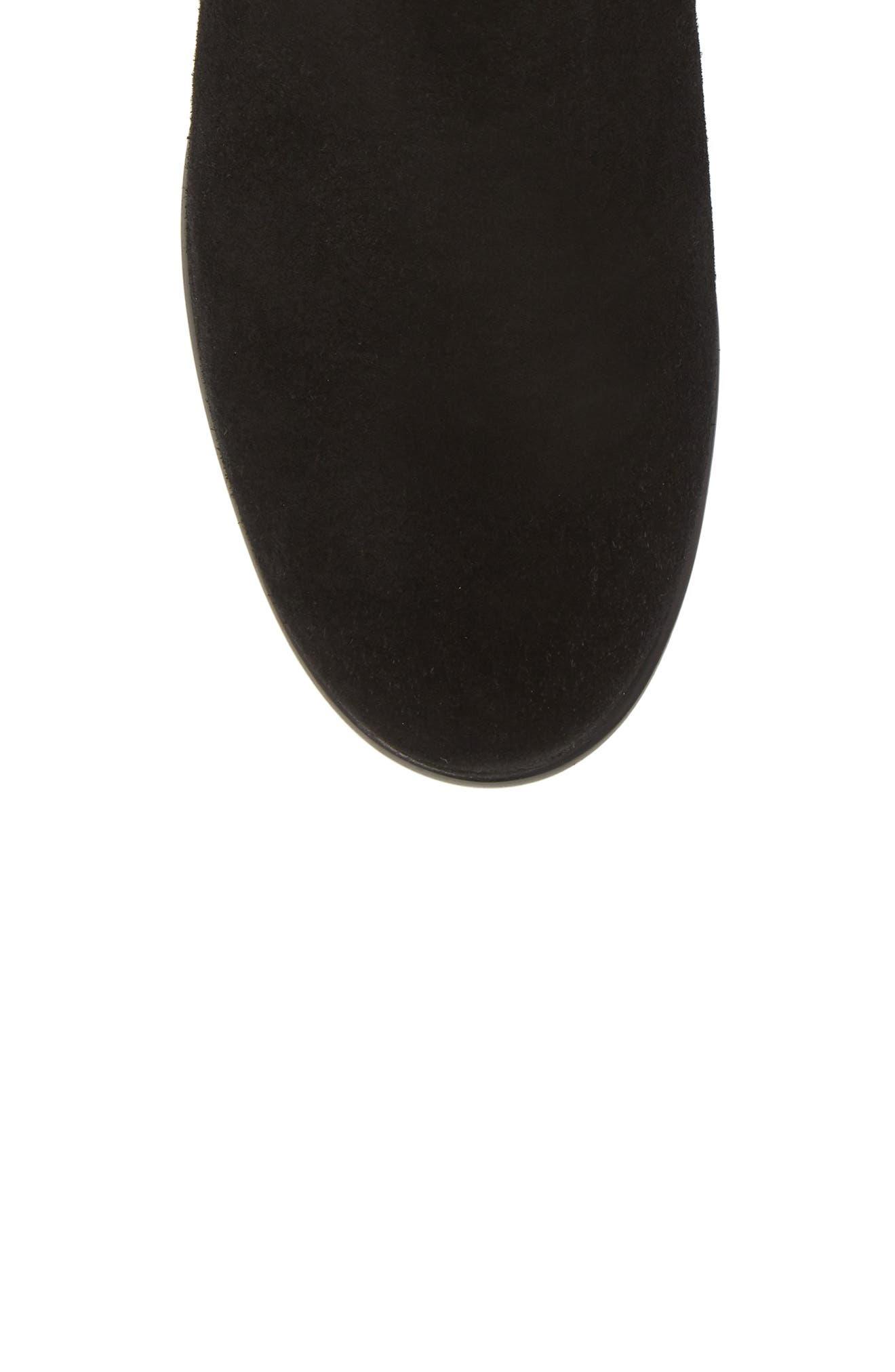Sicilia Waterproof Boot,                             Alternate thumbnail 5, color,                             Black Suede