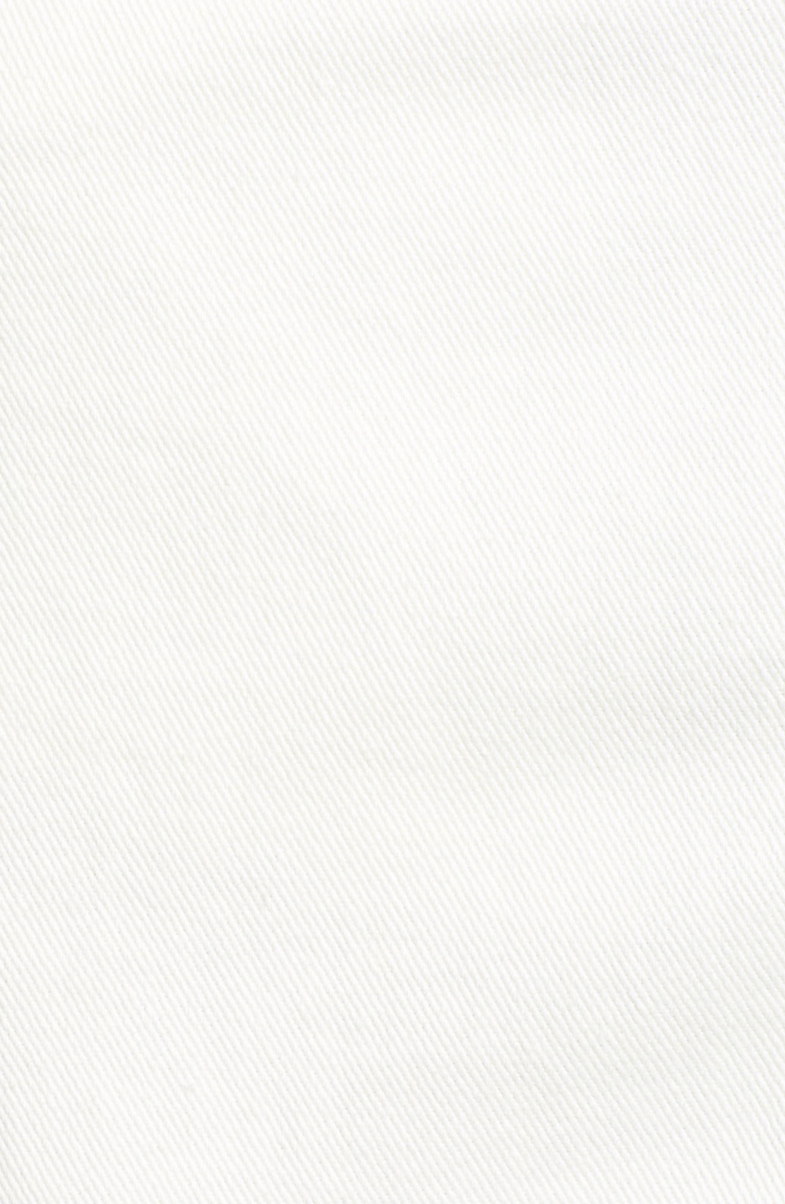 Shimmering Bays Ripped Denim Skirt,                             Alternate thumbnail 6, color,                             White