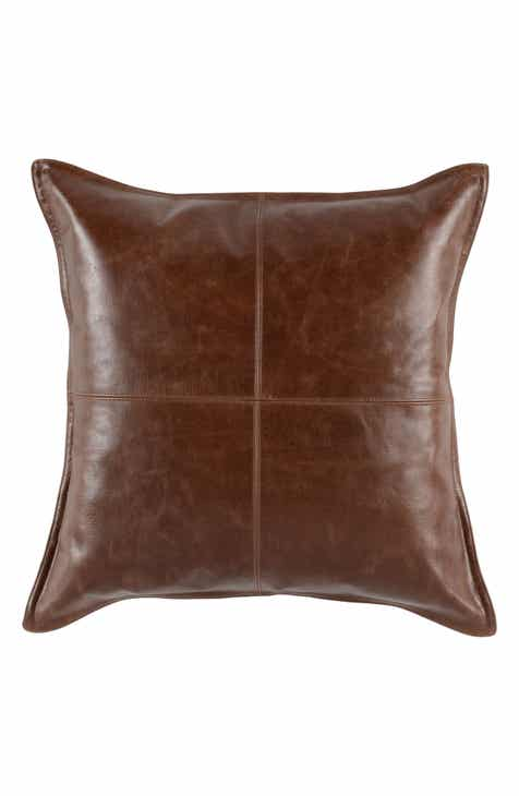 Villa Home Collection Kona Leather Accent Pillow 848f44c70b