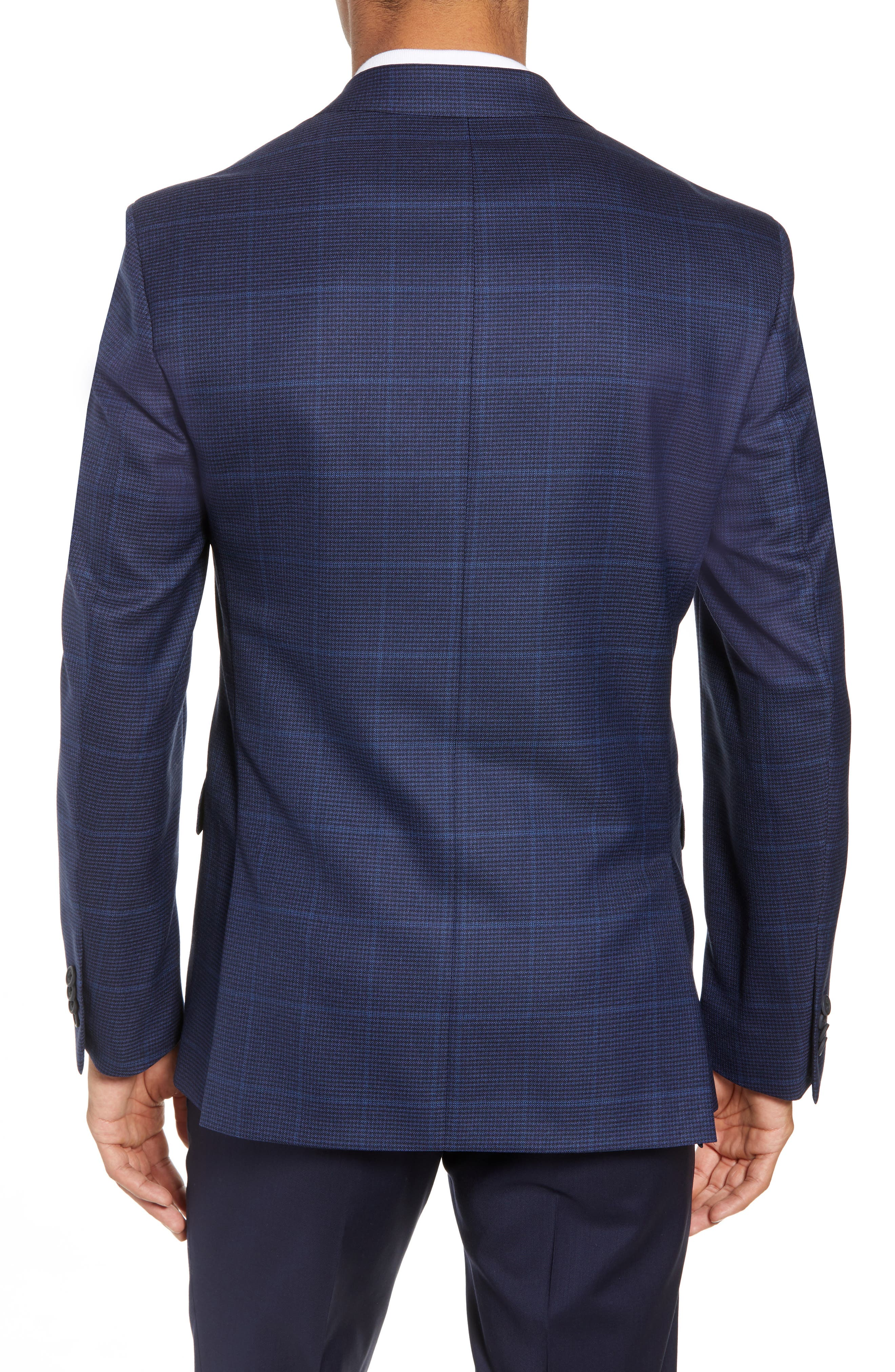 Traditional Fit Windowpane Wool Sport Coat,                             Alternate thumbnail 2, color,                             Blue
