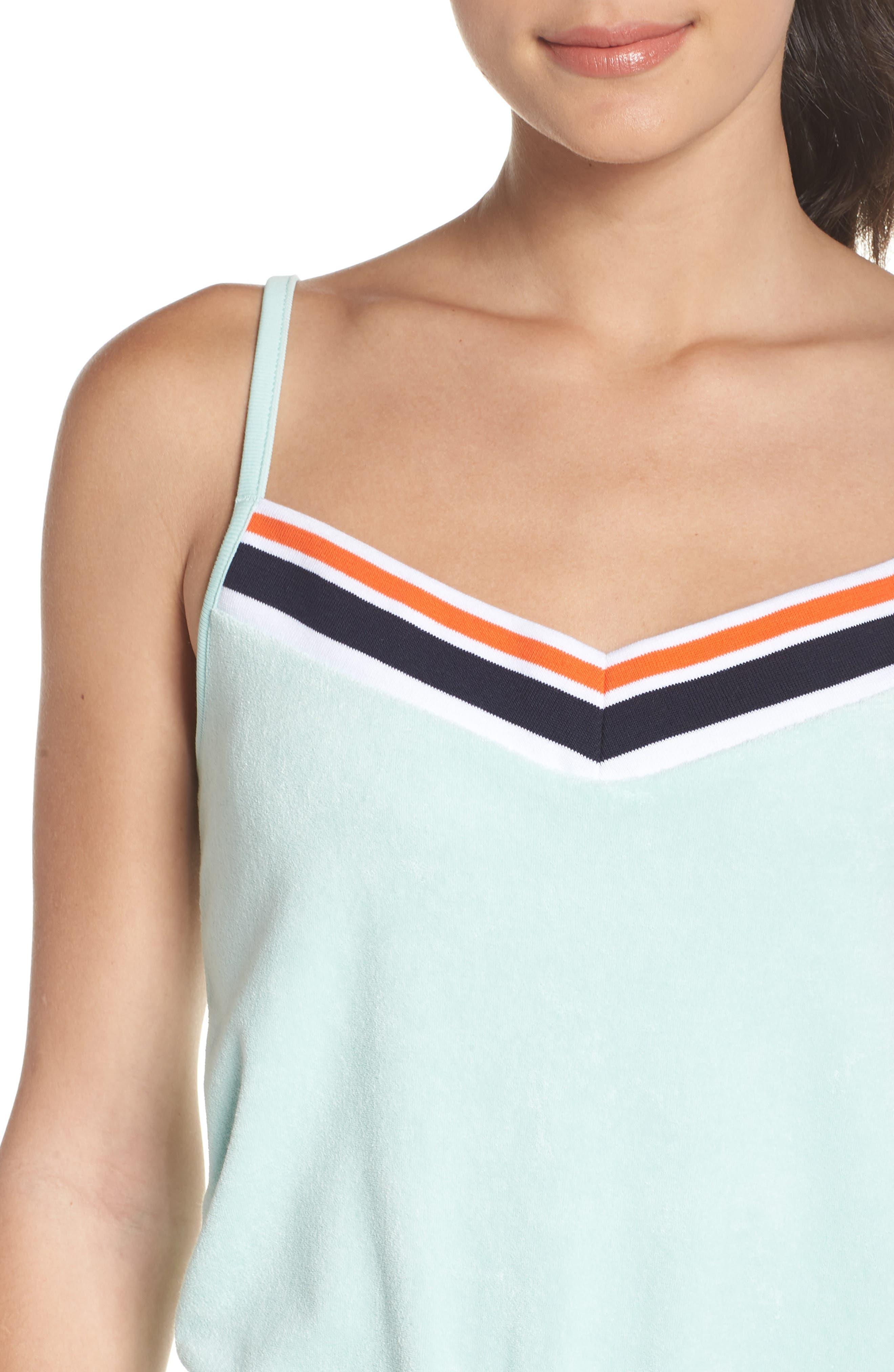 Sportswear Terry Romper,                             Alternate thumbnail 4, color,                             Igloo/ Igloo/ White
