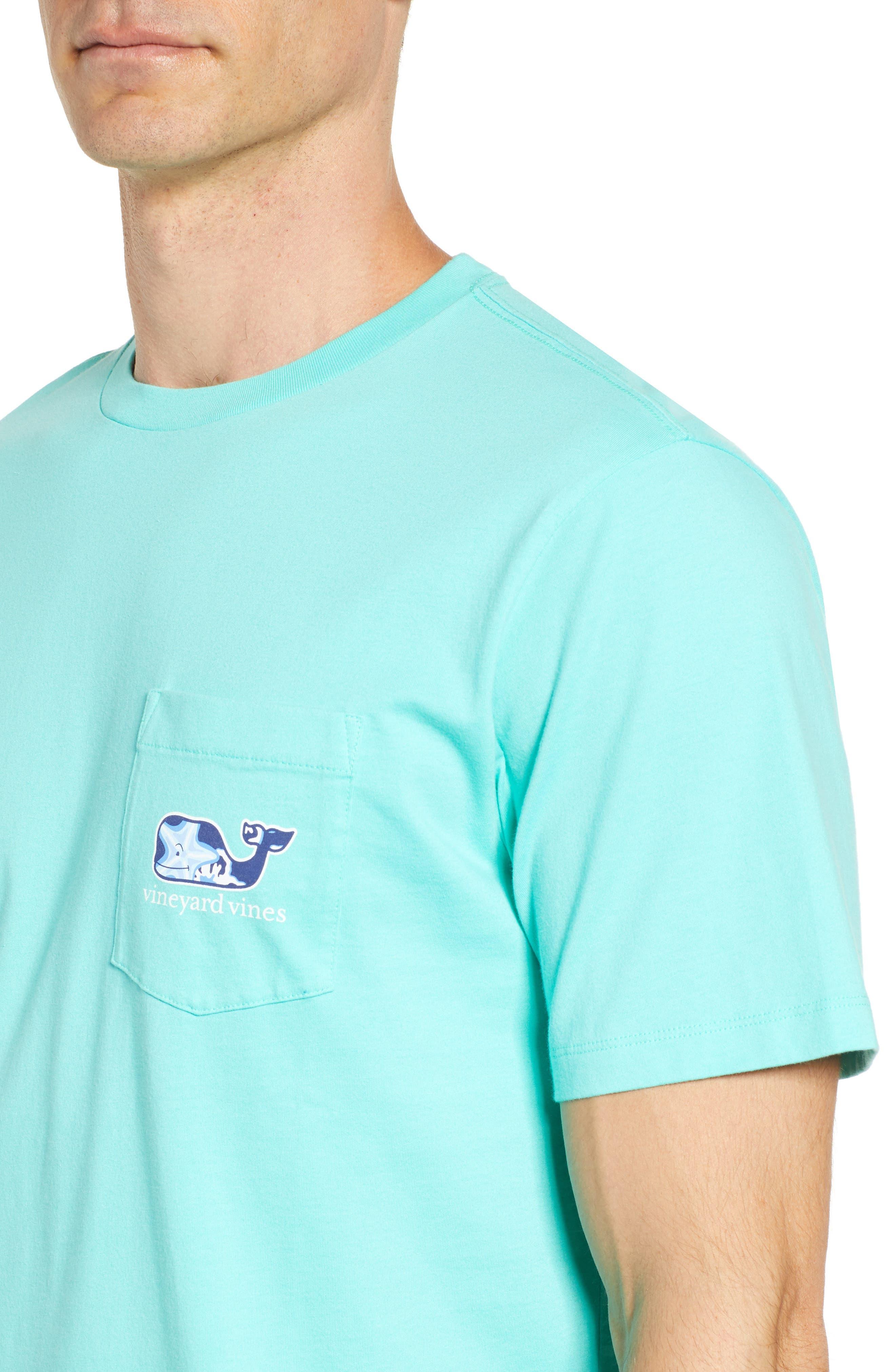 Starfish Whale Pocket T-Shirt,                             Alternate thumbnail 4, color,                             Capri Blue