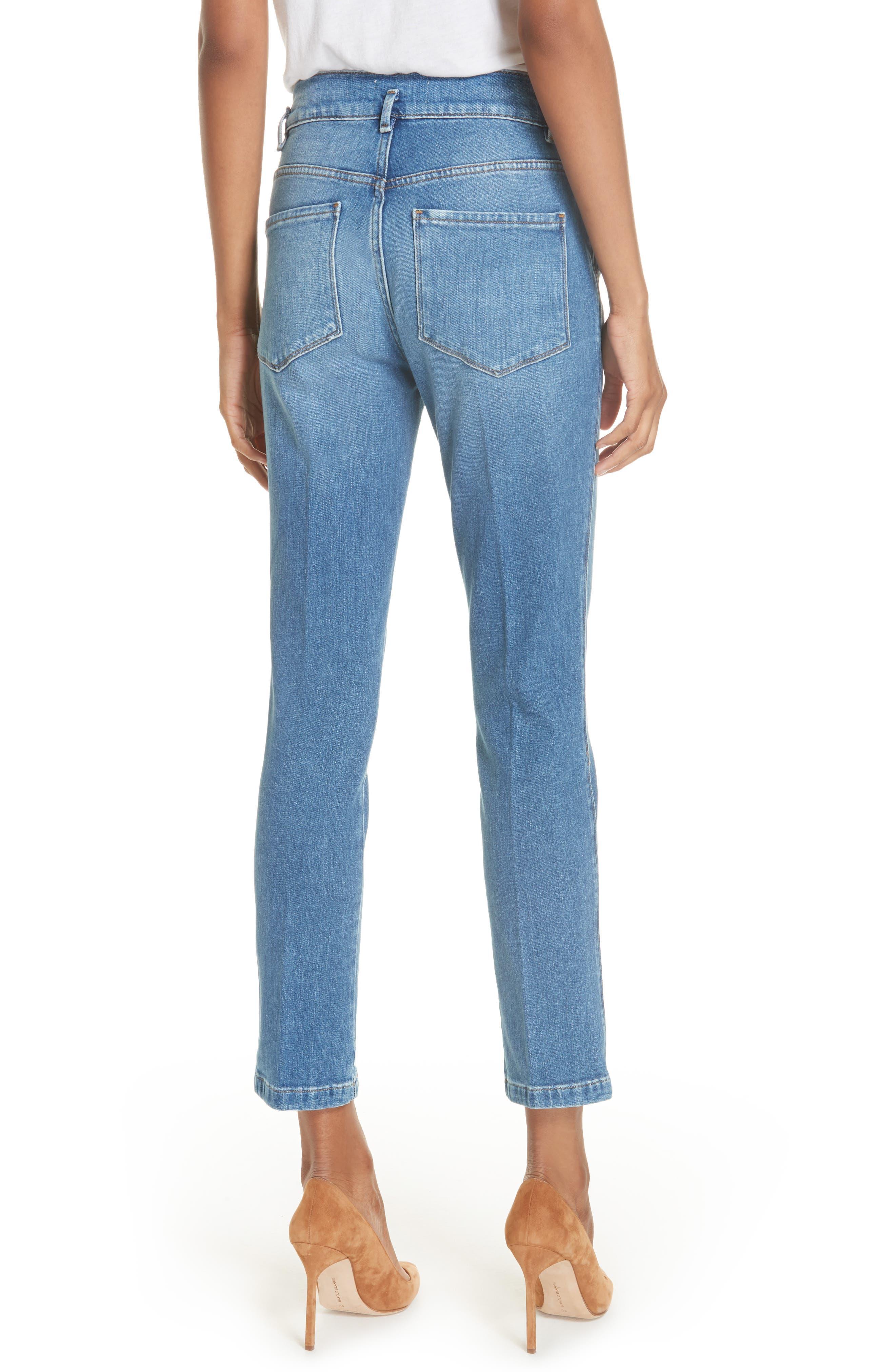 Le Slender Straight Leg Jeans,                             Alternate thumbnail 2, color,                             Thistle
