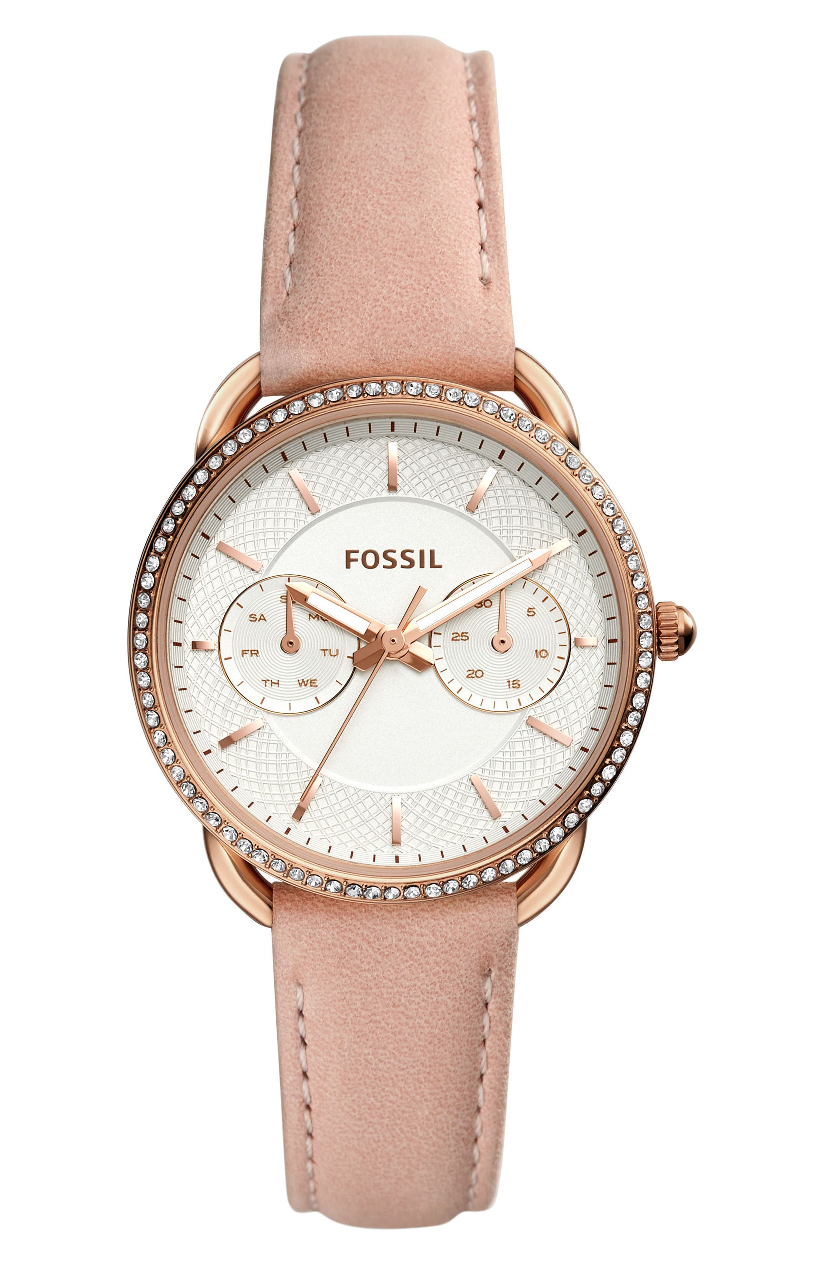 Tailor Multifunction Watch, 35Mm, Beige/ Silver/ Rose Gold