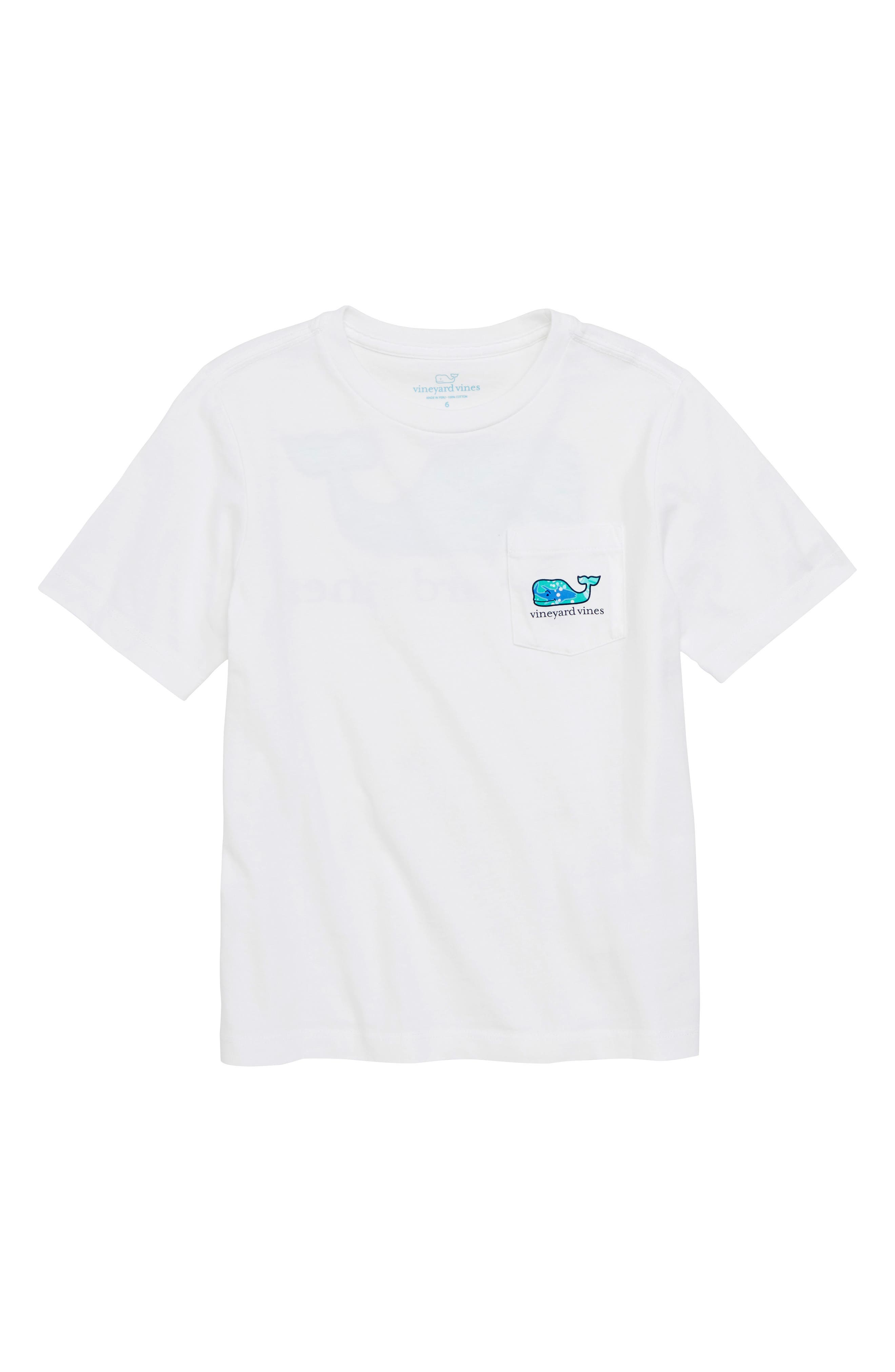 School of Tuna Whale Pocket T-Shirt,                         Main,                         color, White Cap