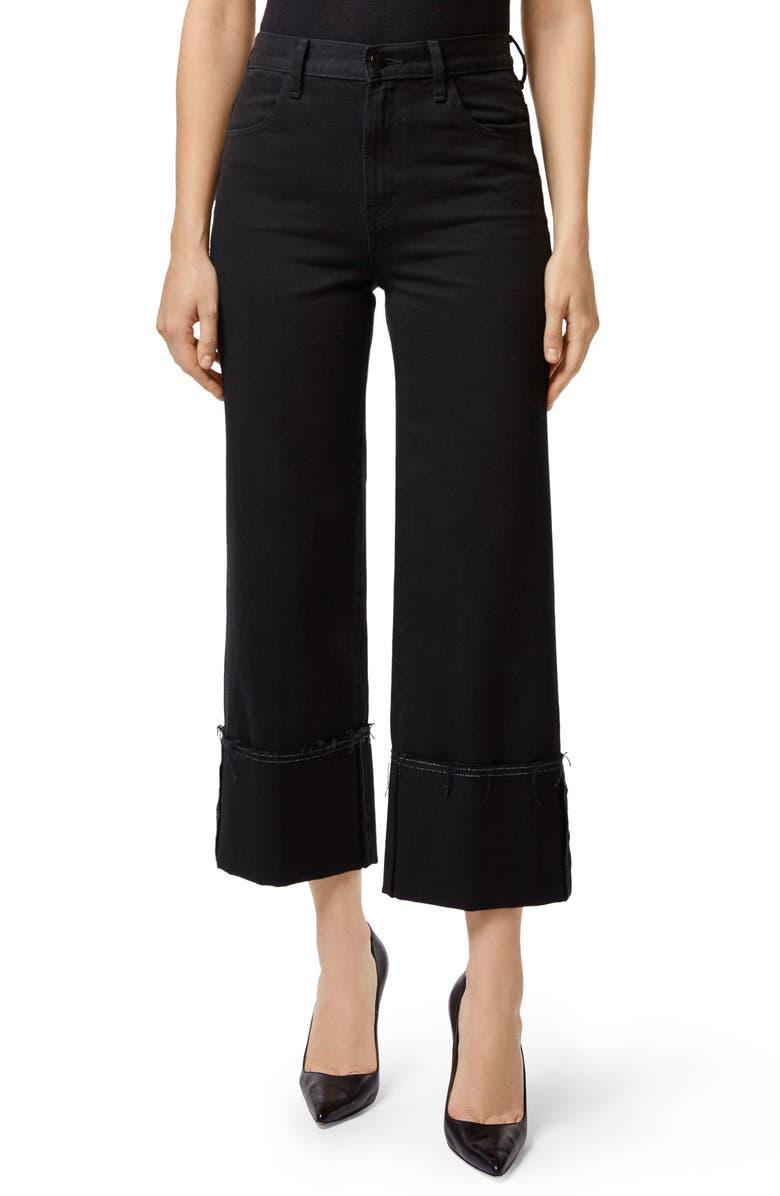 Joan Cuffed High Waist Crop Flare Jeans