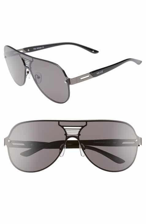 731771257e Privé Revaux The Hitman 63mm Polarized Oversize Aviator Sunglasses