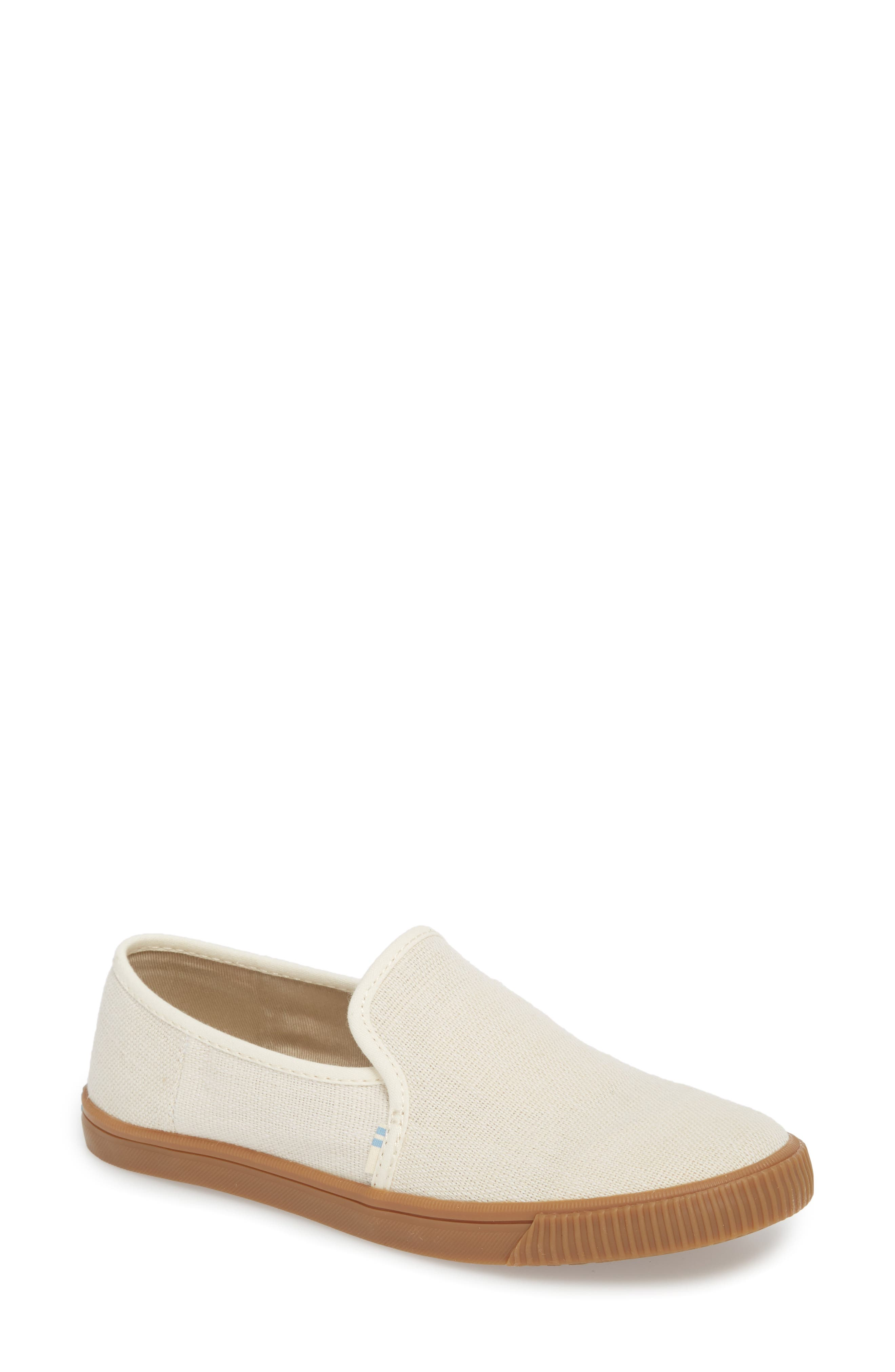 Clemente Slip-On,                             Main thumbnail 1, color,                             Birch Heritage Canvas