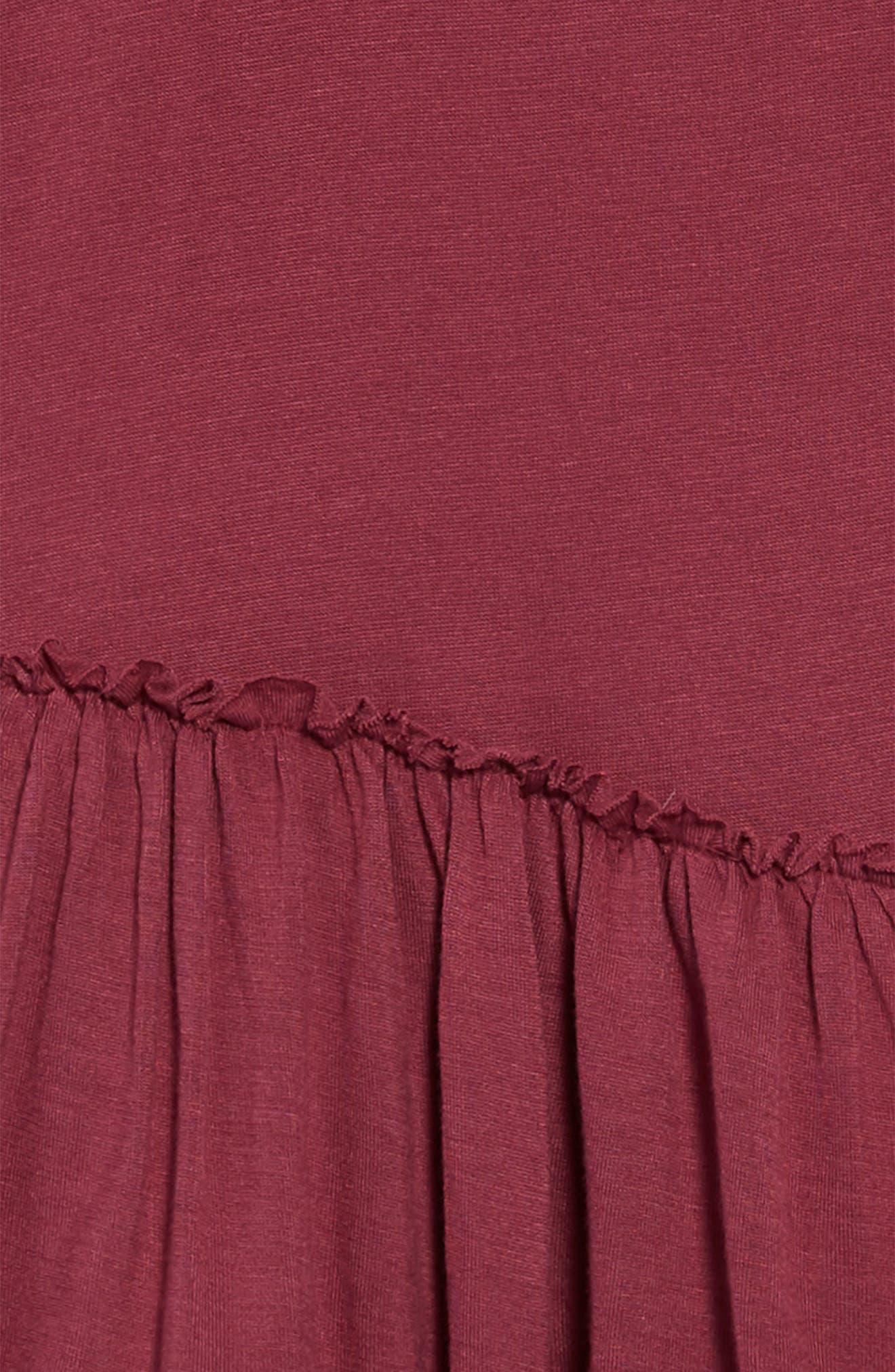 Tiered Tank Dress,                             Alternate thumbnail 3, color,                             Maroon