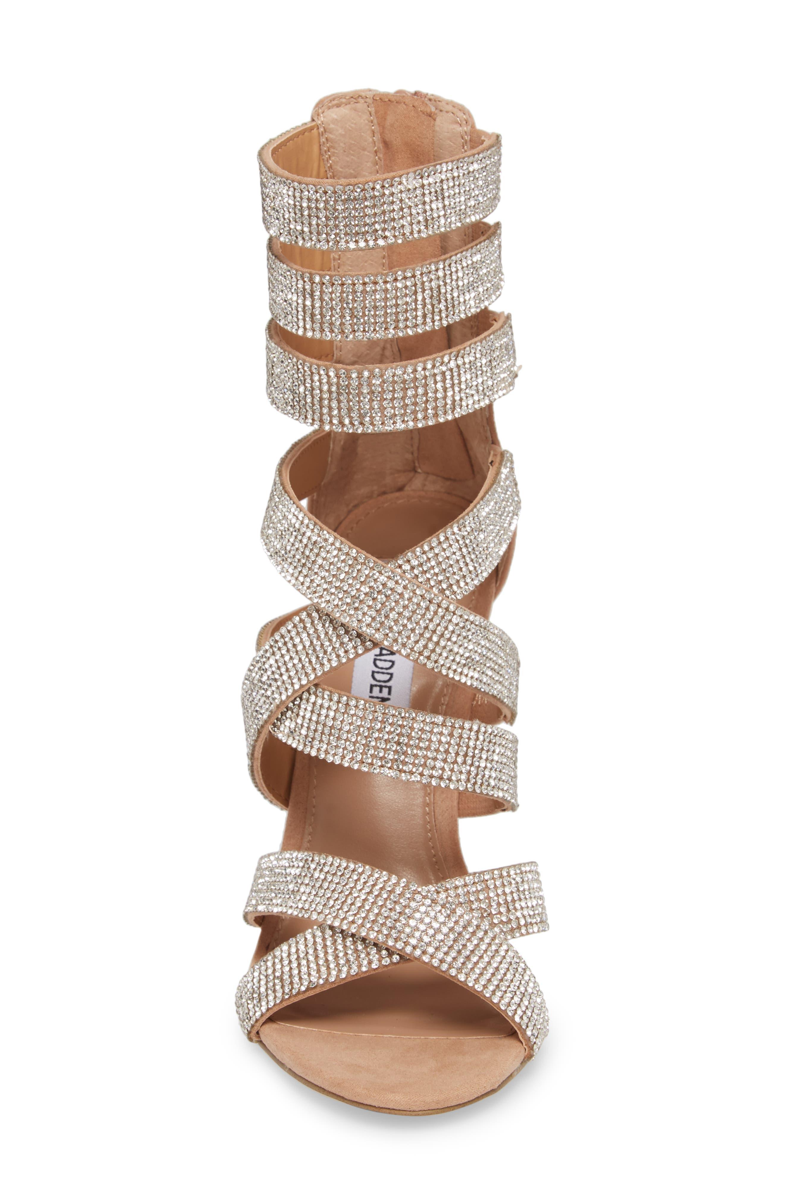 Malika Crystal Embellished Sandal,                             Alternate thumbnail 5, color,                             Rhinestone
