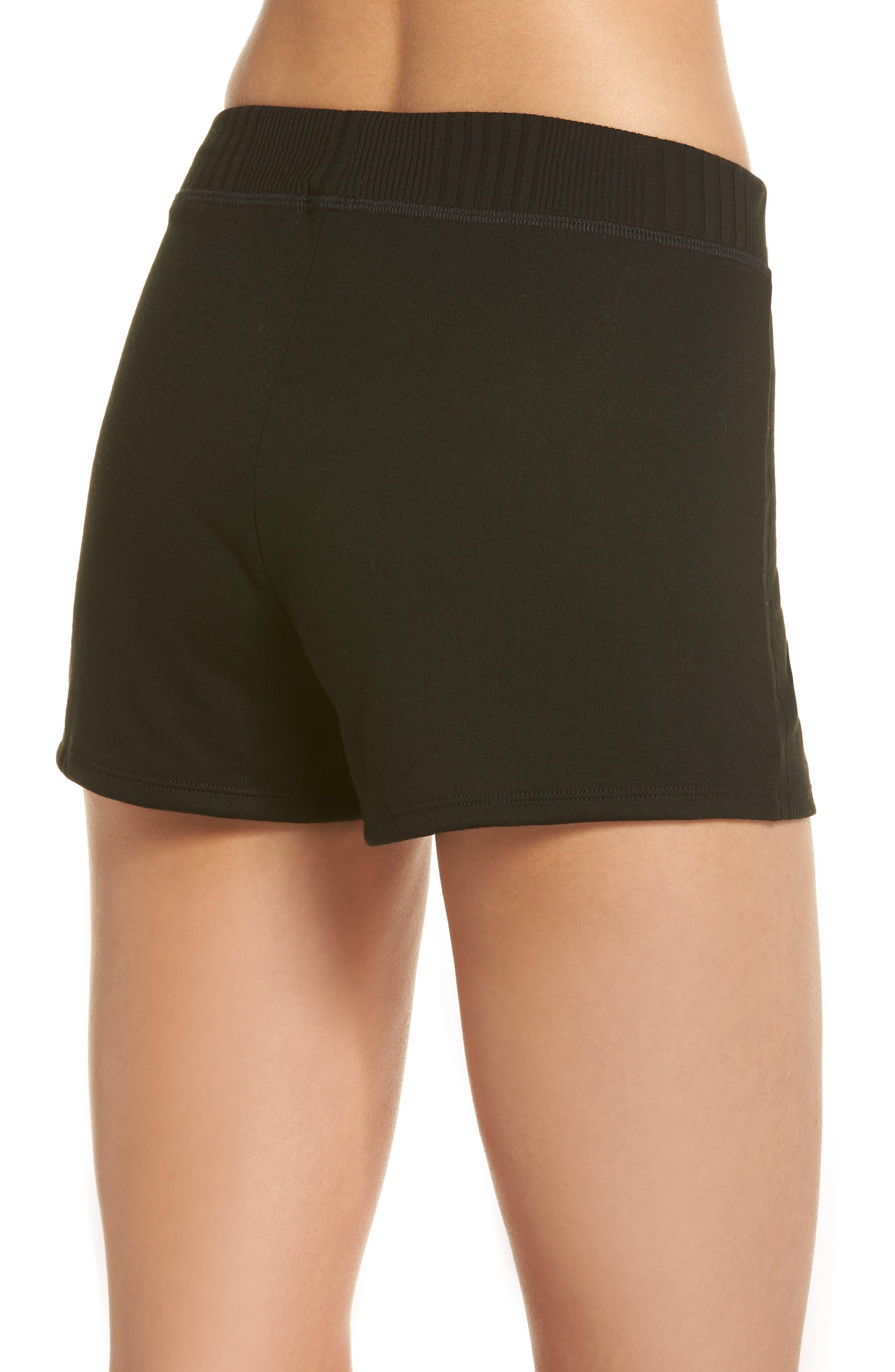 Pajama Shorts,                             Alternate thumbnail 2, color,                             Black