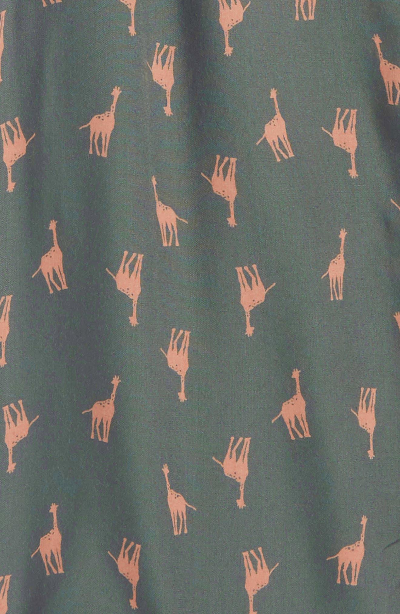 Skylar Giraffe Print Jumpsuit,                             Alternate thumbnail 2, color,                             Sage