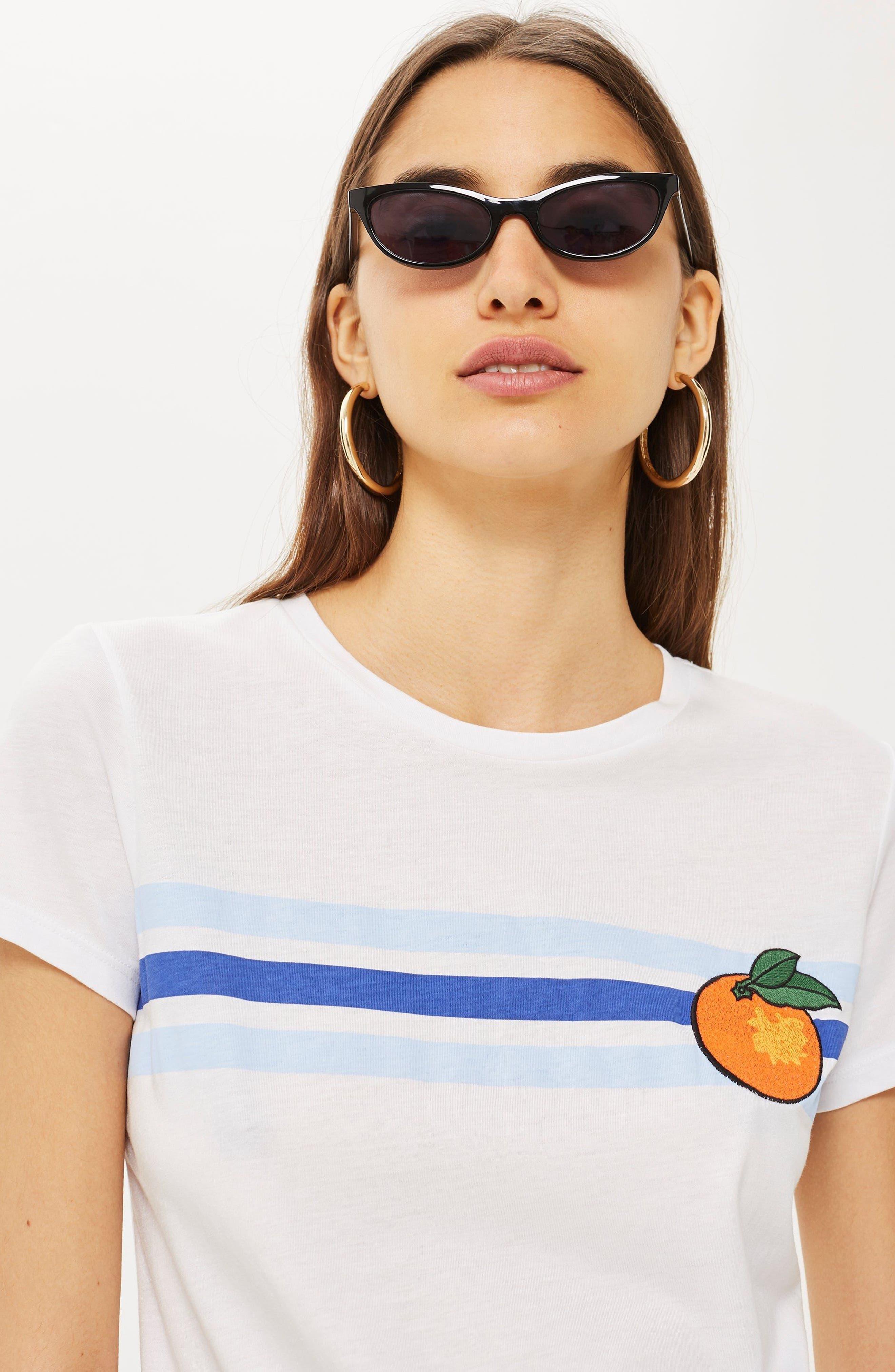 Satsuma Retro T-Shirt,                             Alternate thumbnail 4, color,                             White Multi